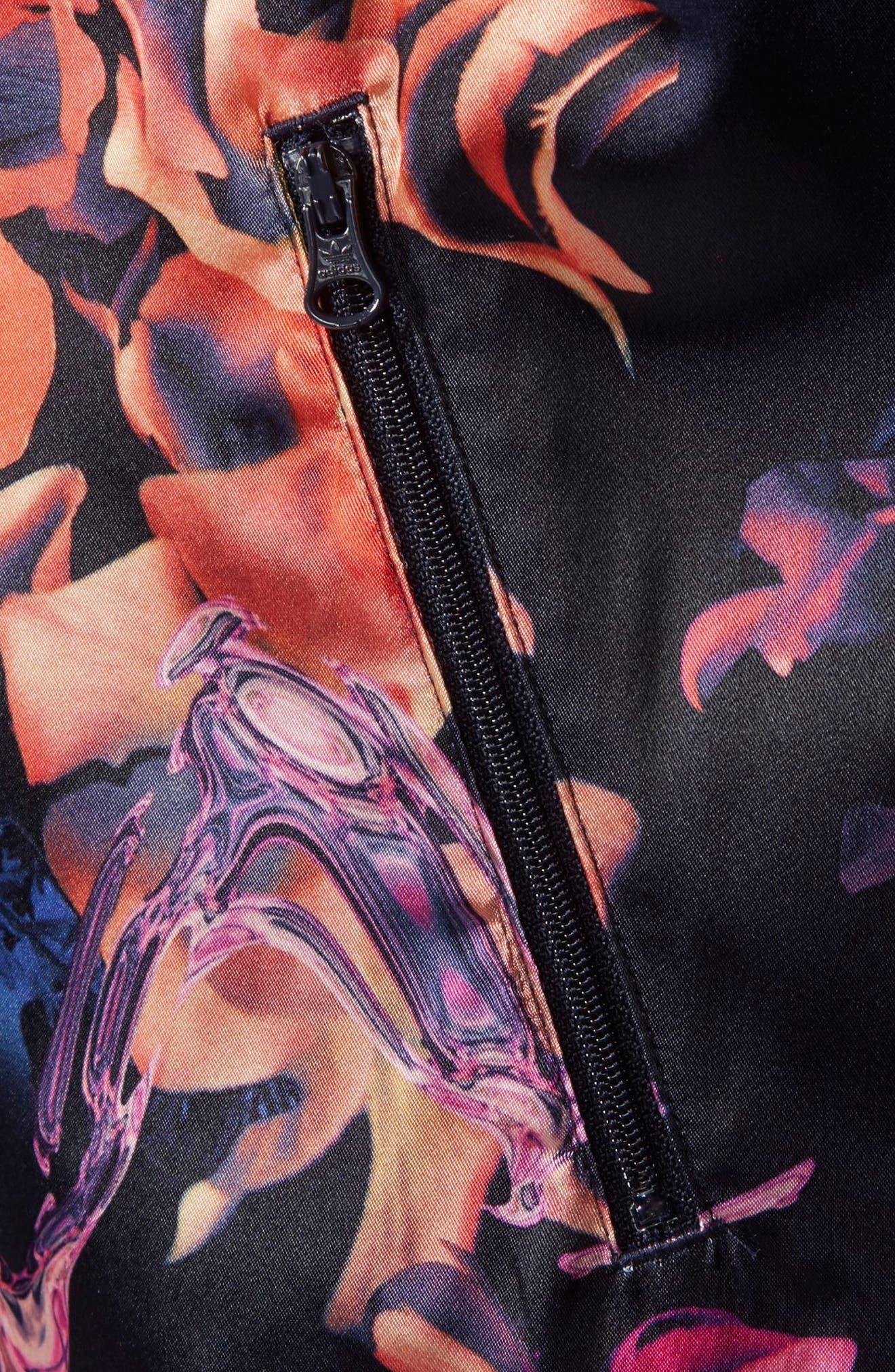Alternate Image 4  - adidas Originals Rose Print Superstar Jacket (Big Girls)