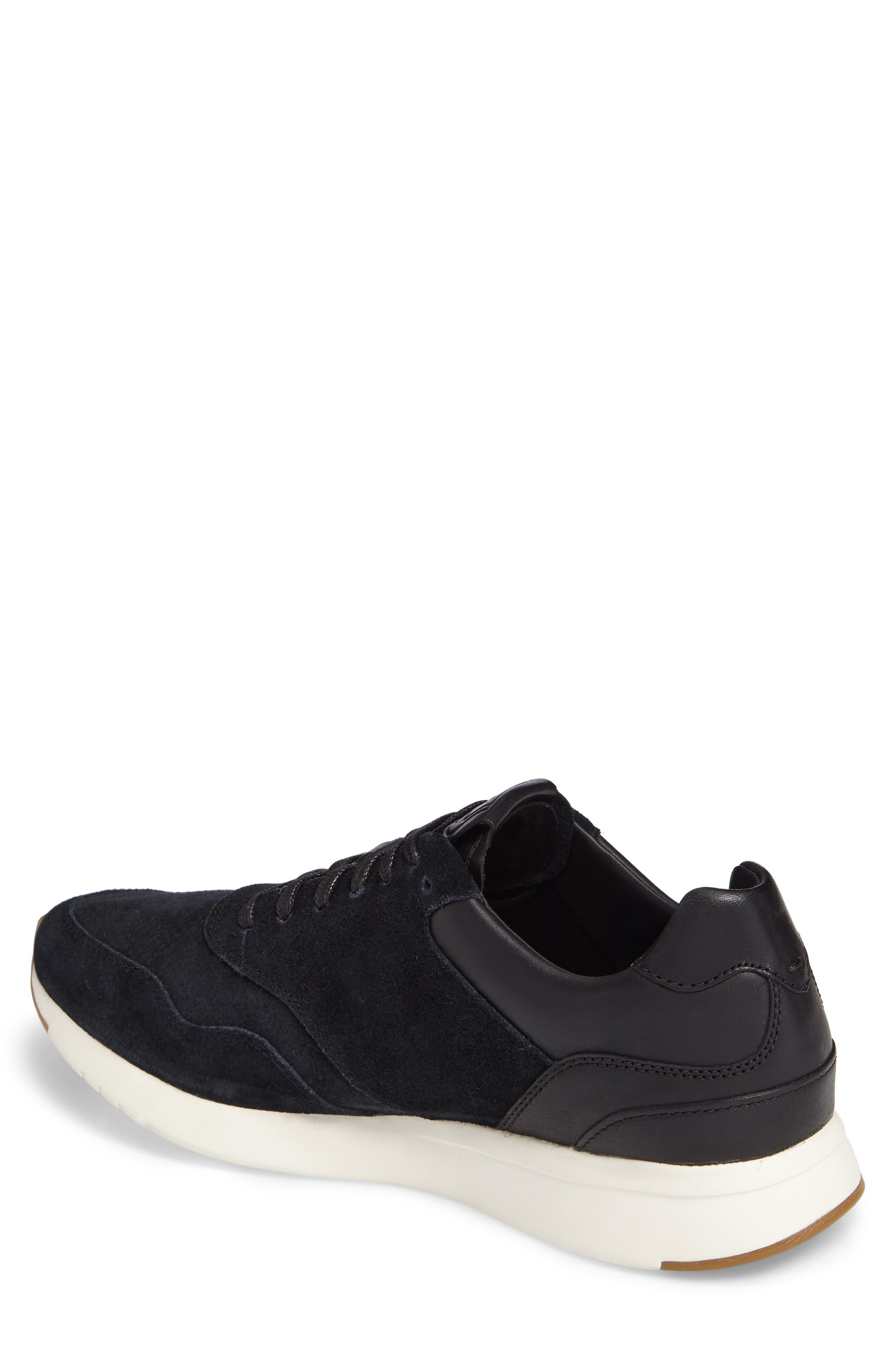 GrandPro Runner Sneaker,                             Alternate thumbnail 2, color,                             Black Leather