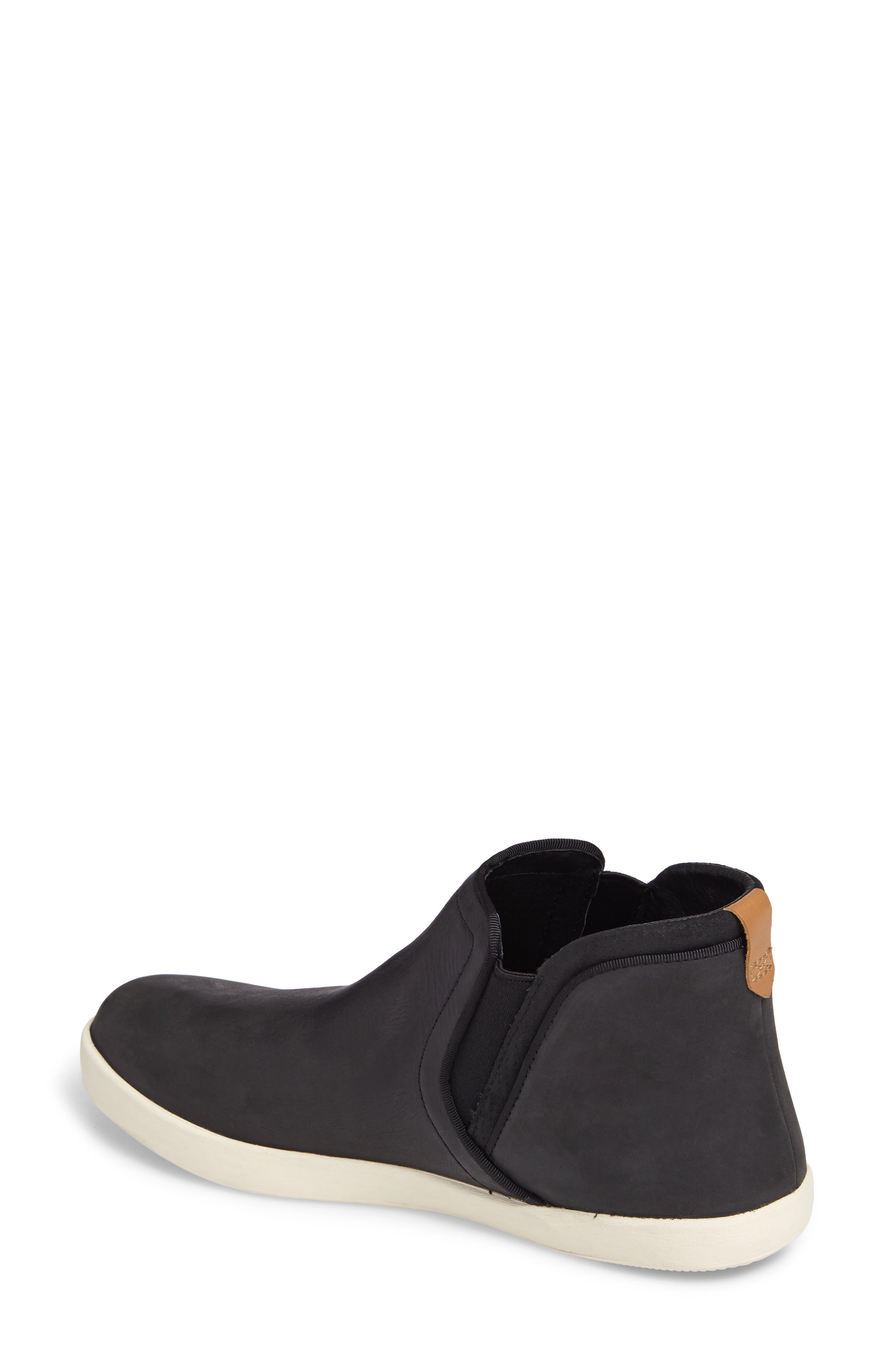 Willow Chelsea Sneaker,                             Alternate thumbnail 2, color,                             Black Leather
