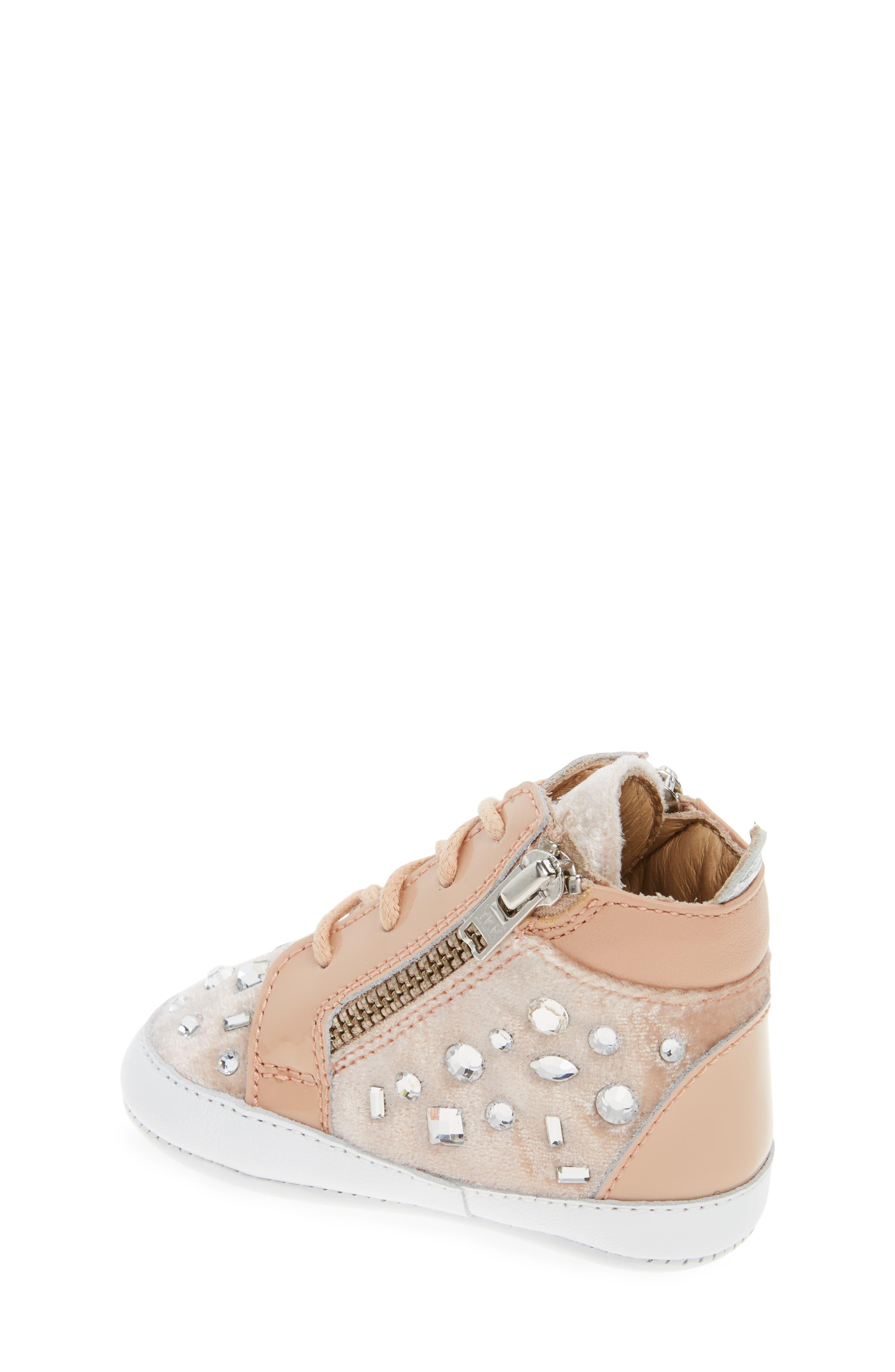 Alternate Image 2  - Giuseppe Zanotti Veronica Embellished Sneaker (Baby, Walker, Toddler & Little Kid)