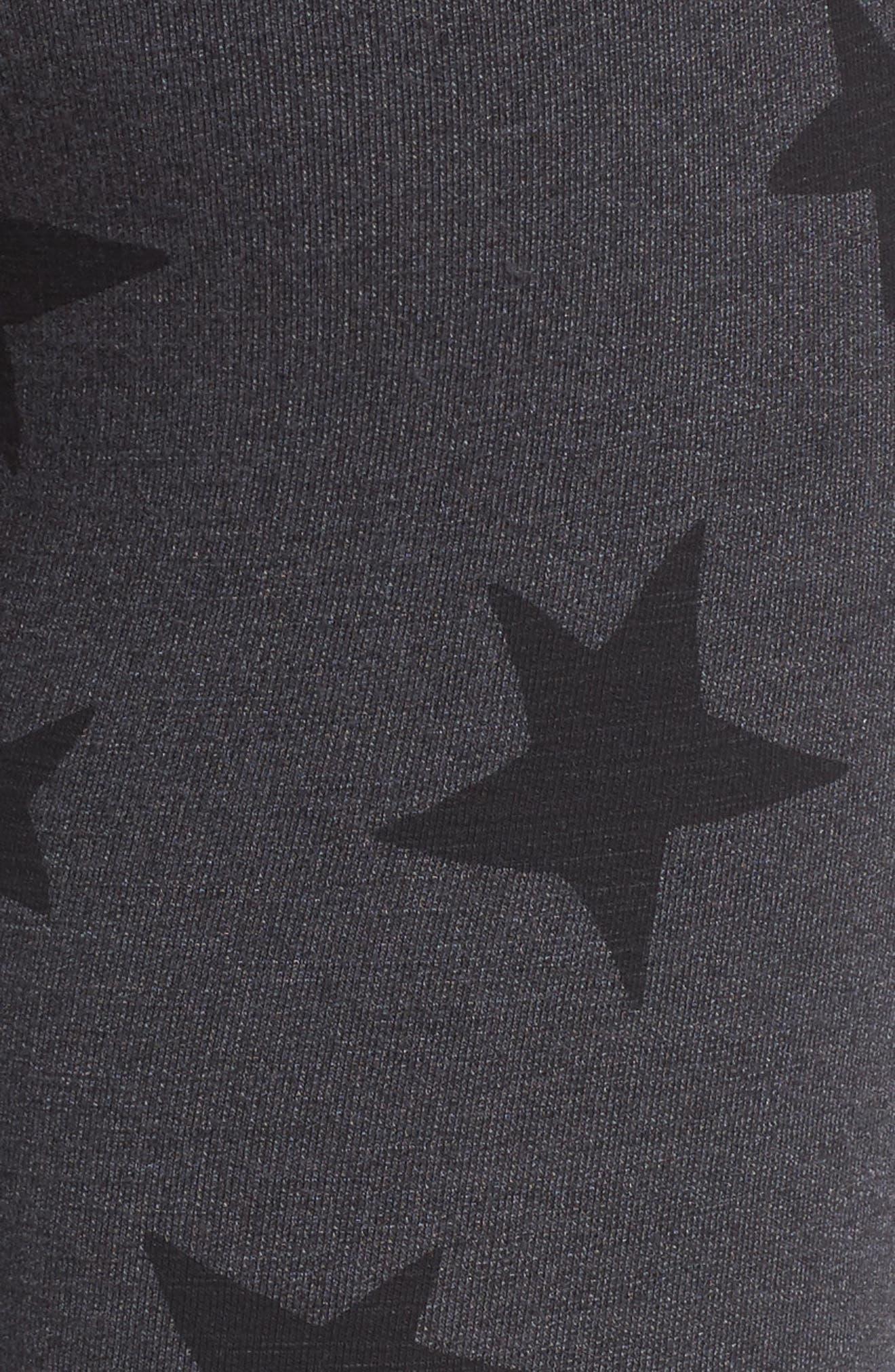 Stripe Star Leggings,                             Alternate thumbnail 5, color,                             Soft Black