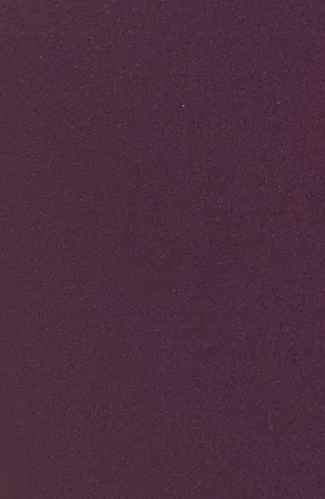 Crystal Pleated Neck Jumpsuit,                             Alternate thumbnail 5, color,                             Eggplant