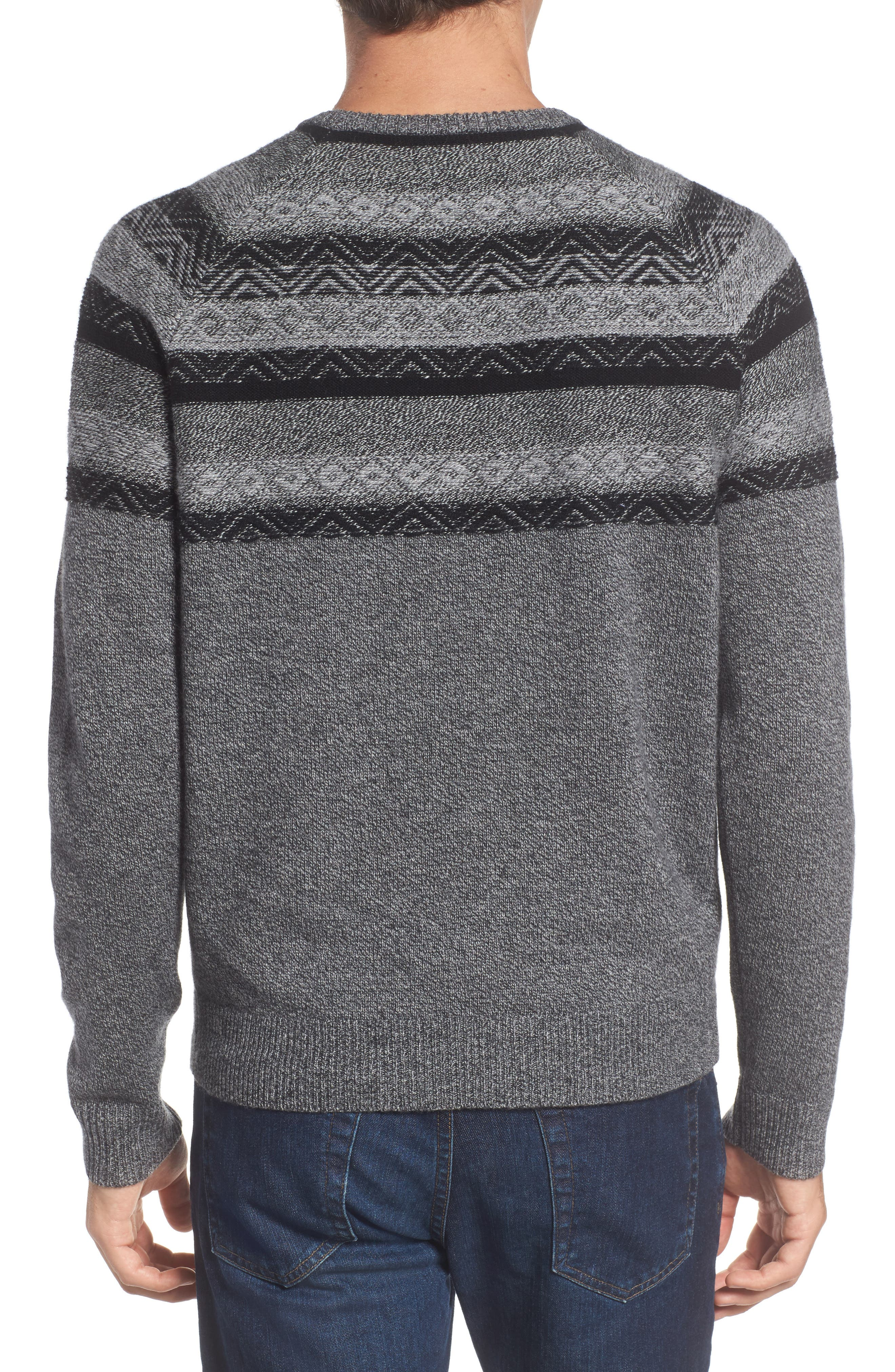 Pattern Wool & Cashmere Sweater,                             Alternate thumbnail 2, color,                             Grey Phantom