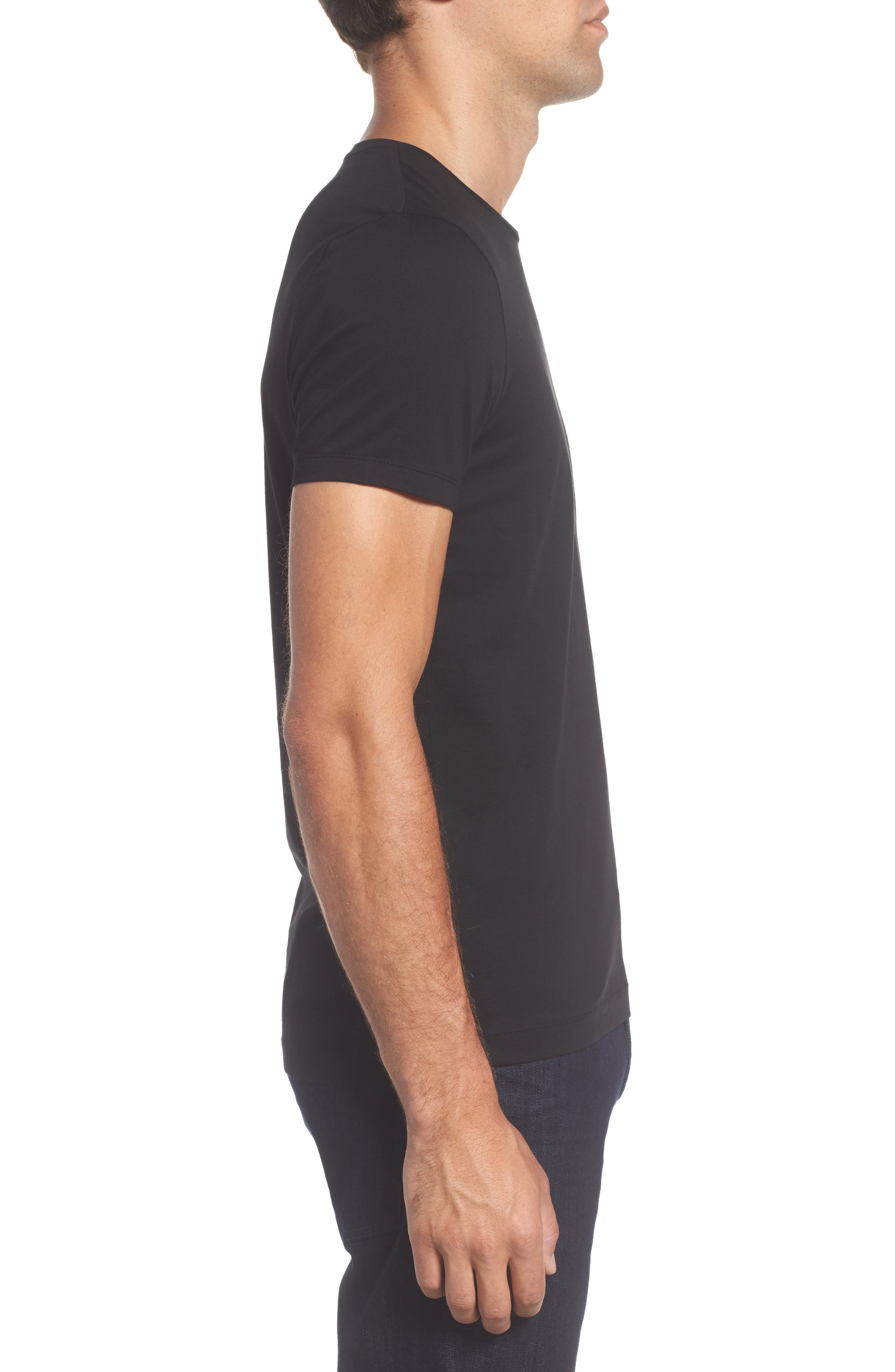 Tessler Crewneck T-Shirt,                             Alternate thumbnail 13, color,                             Black