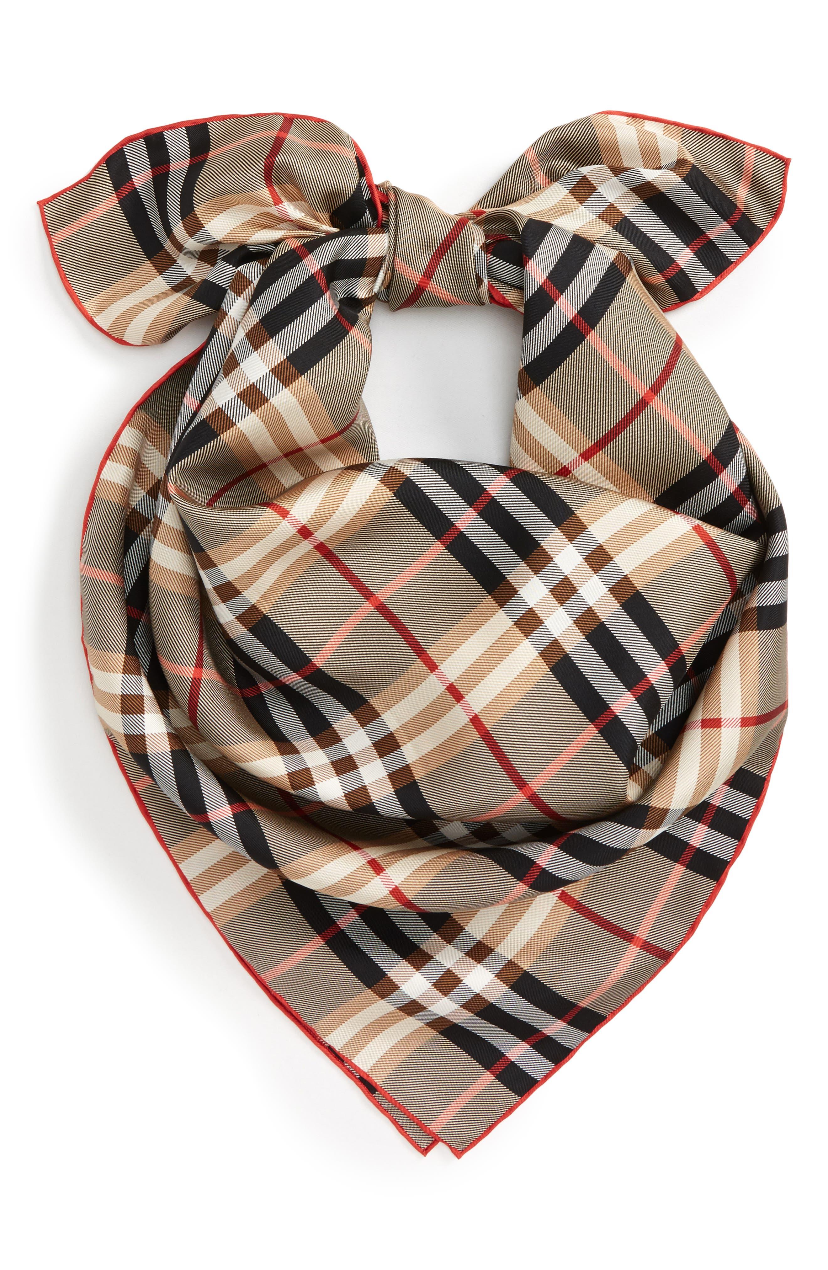 Alternate Image 2  - Burberry Castleford Check Silk Scarf