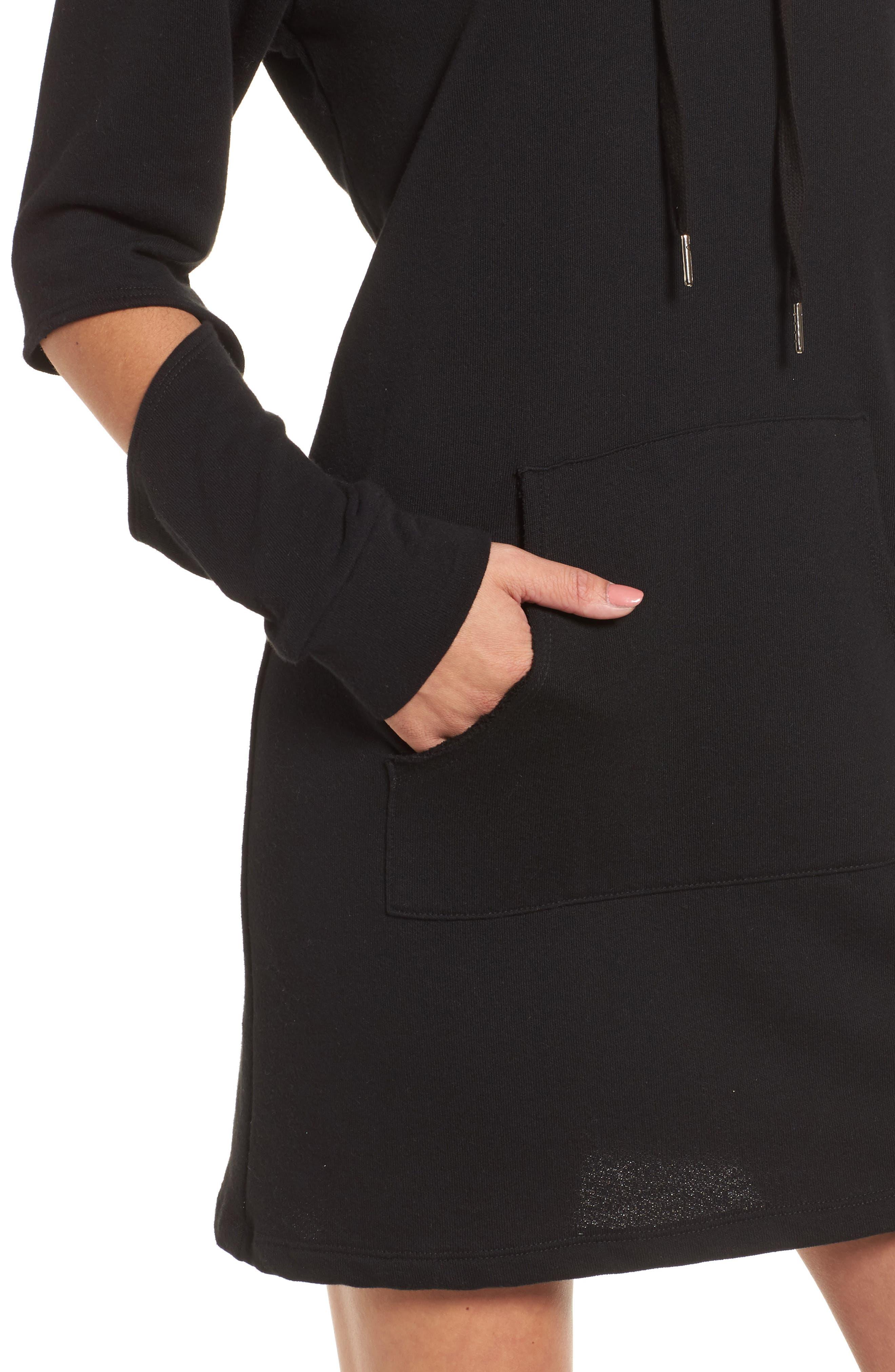 Alternate Image 4  - Socialite Cutout Sleeve Hoodie Dress