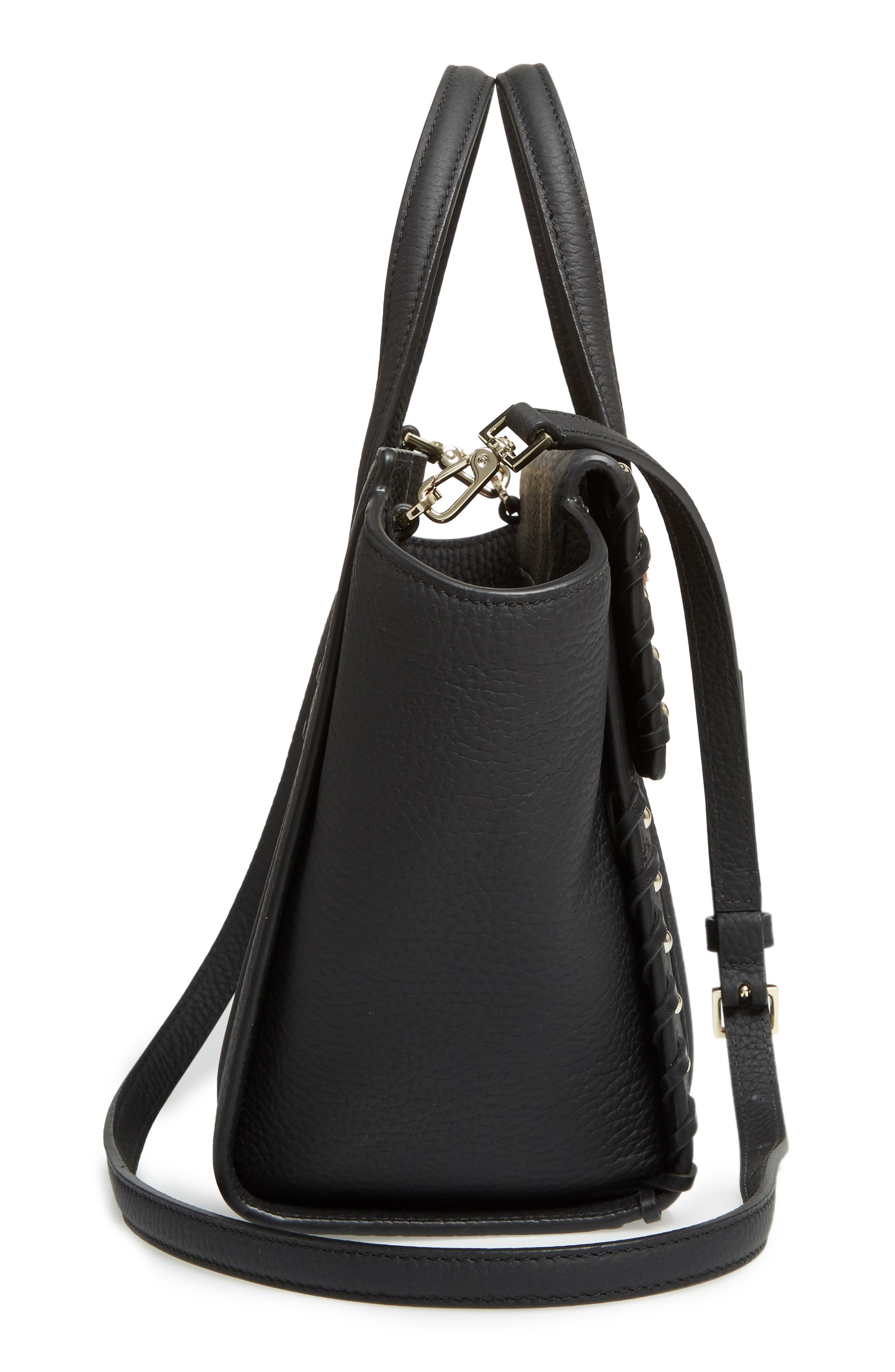 small madison daniels drive - abigail embellished leather tote,                             Alternate thumbnail 4, color,                             Black