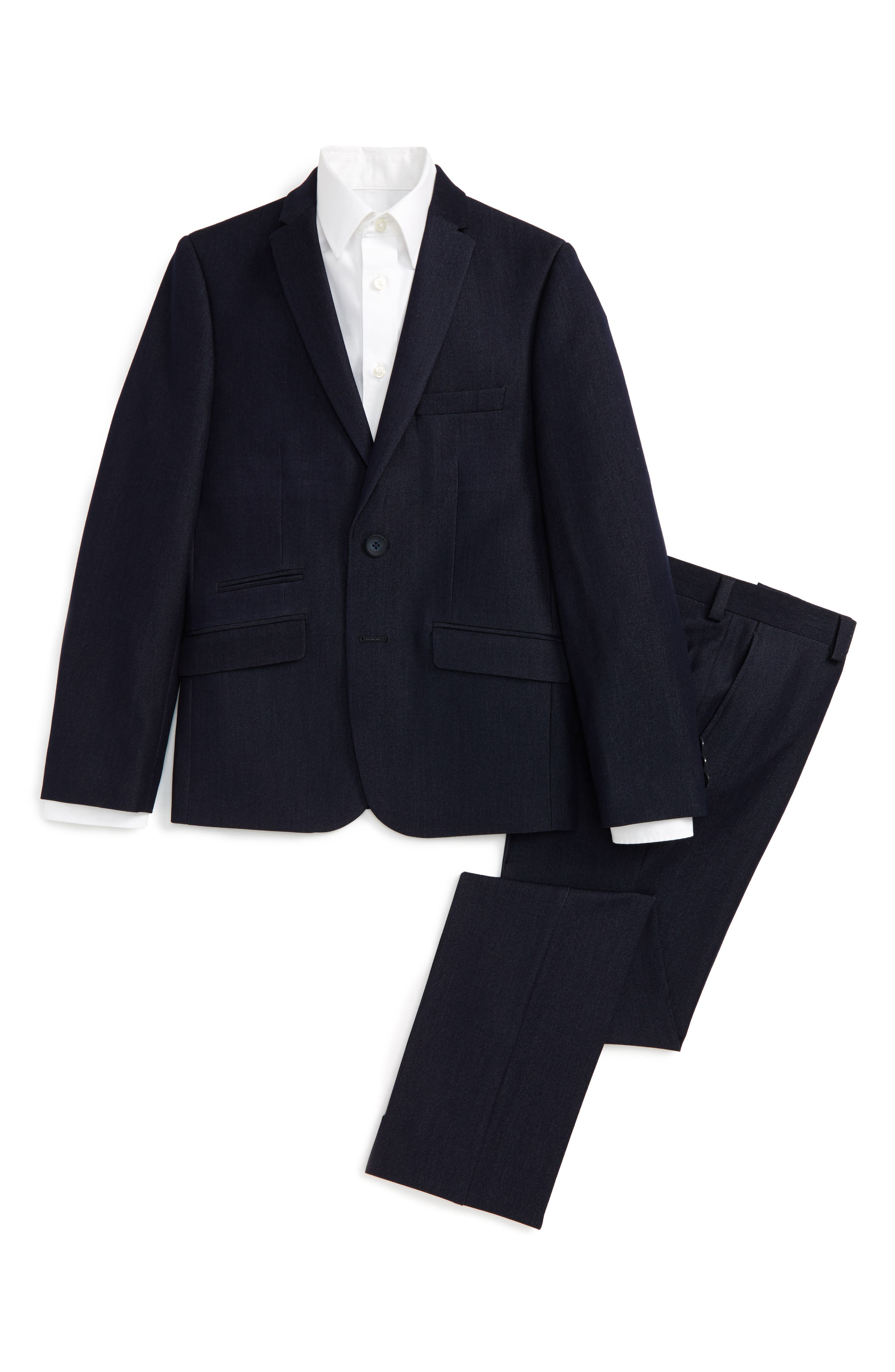 Main Image - Andrew Marc Twill Suit (Big Boys)