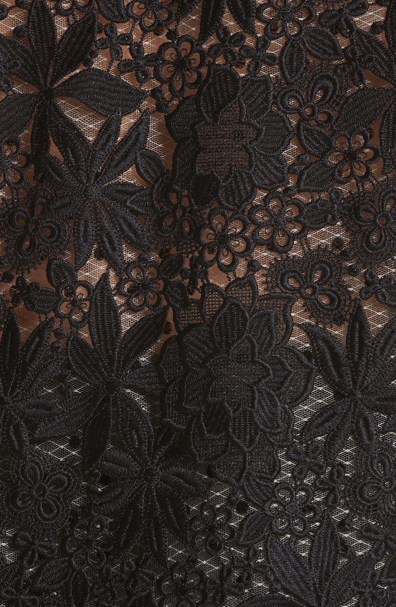 Alternate Image 6  - Monique Lhuillier Lace & Dot Flutter Sleeve Top