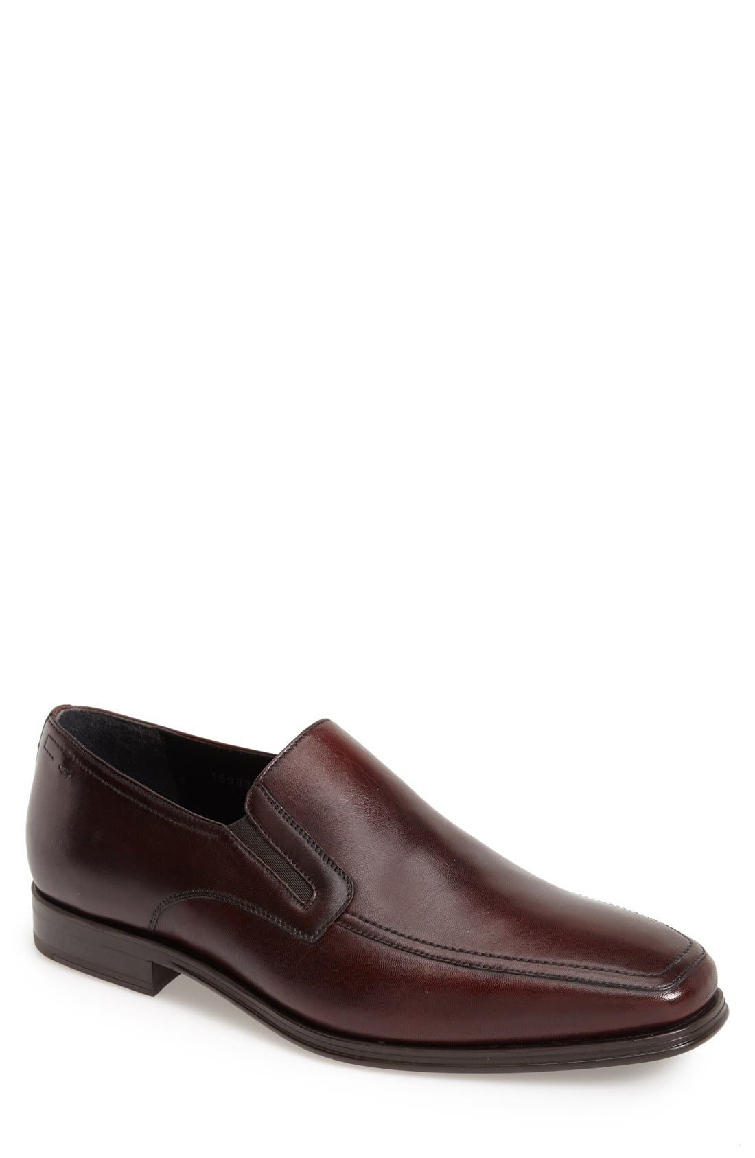 MAGNANNI Men'S Antonio Leather Loafers in Brown