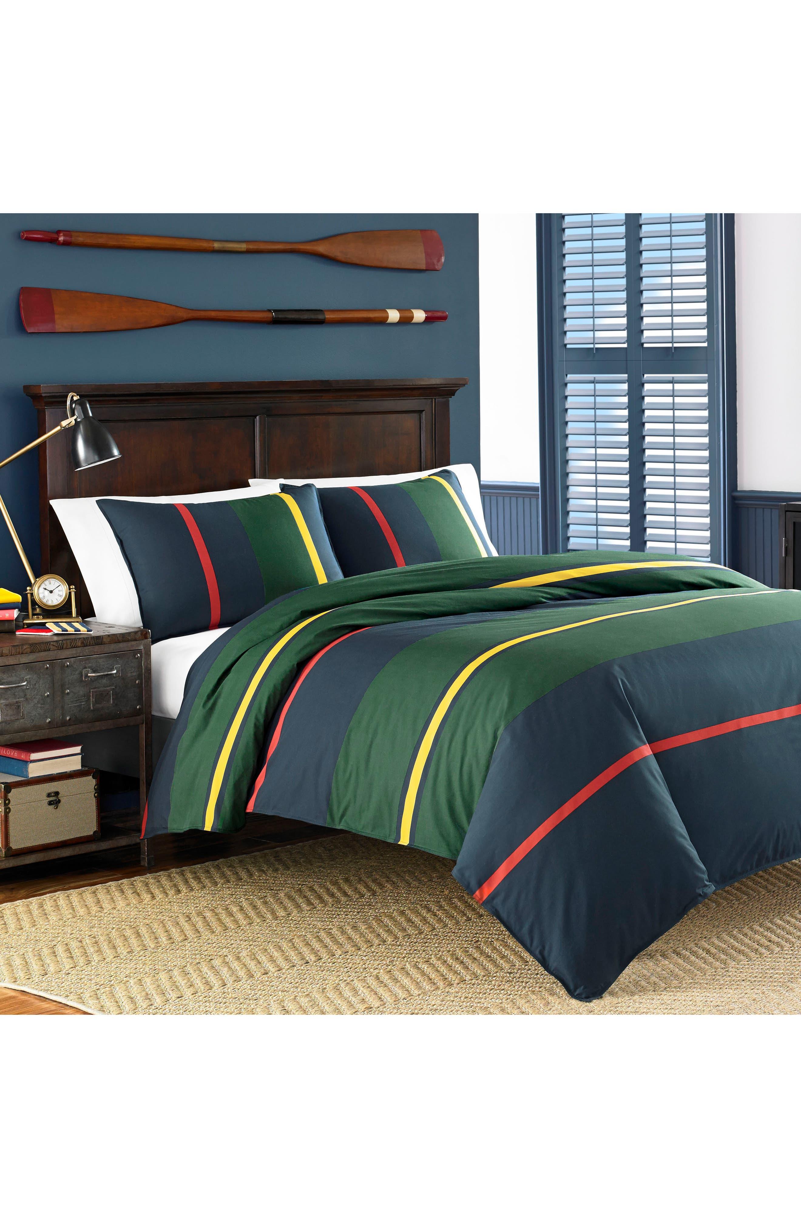 Main Image - Nautica Heritage Stripe Comforter & Sham Set