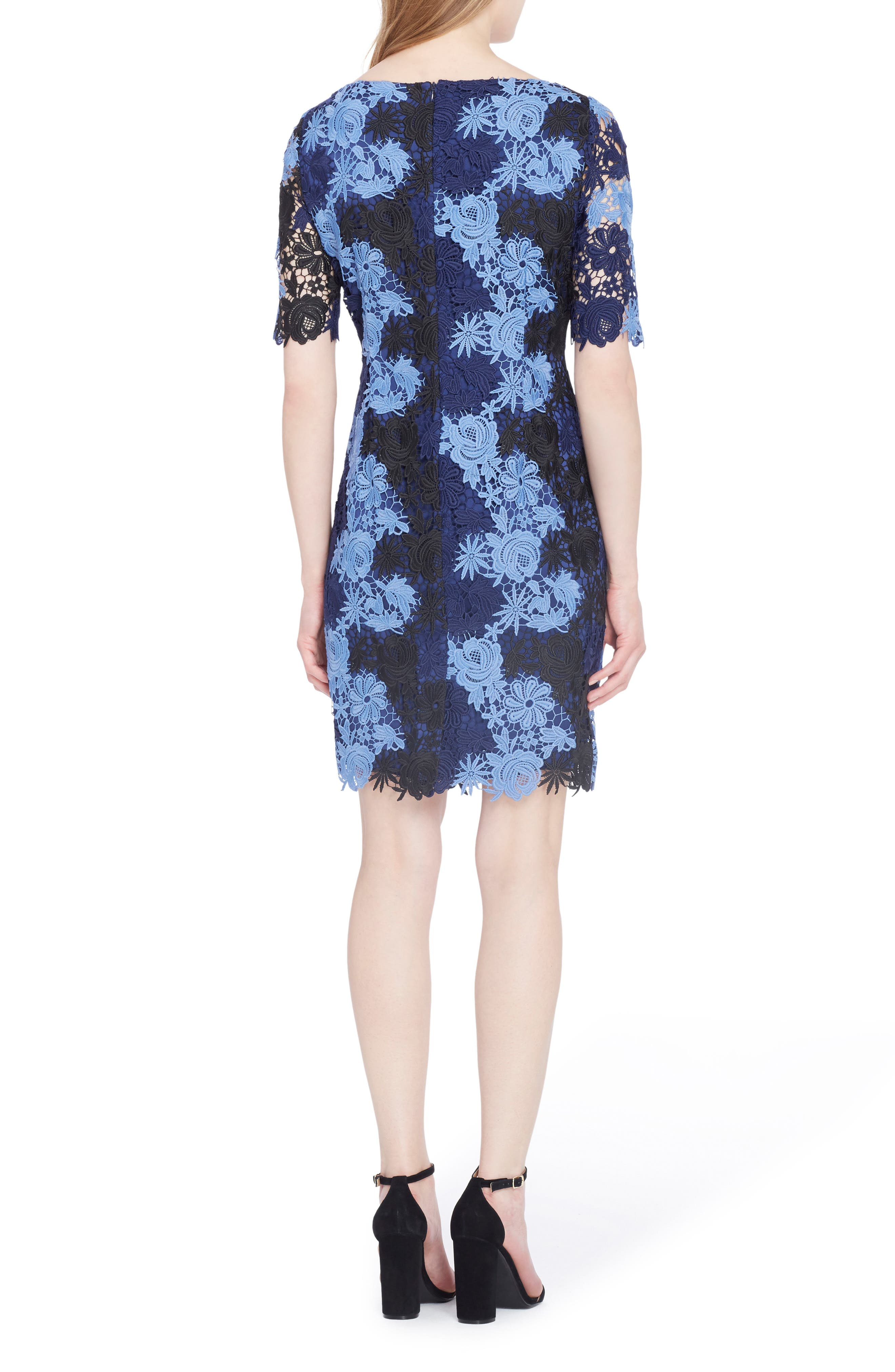 Alternate Image 2  - Tahari Lace Sheath Dress (Regular & Petite)