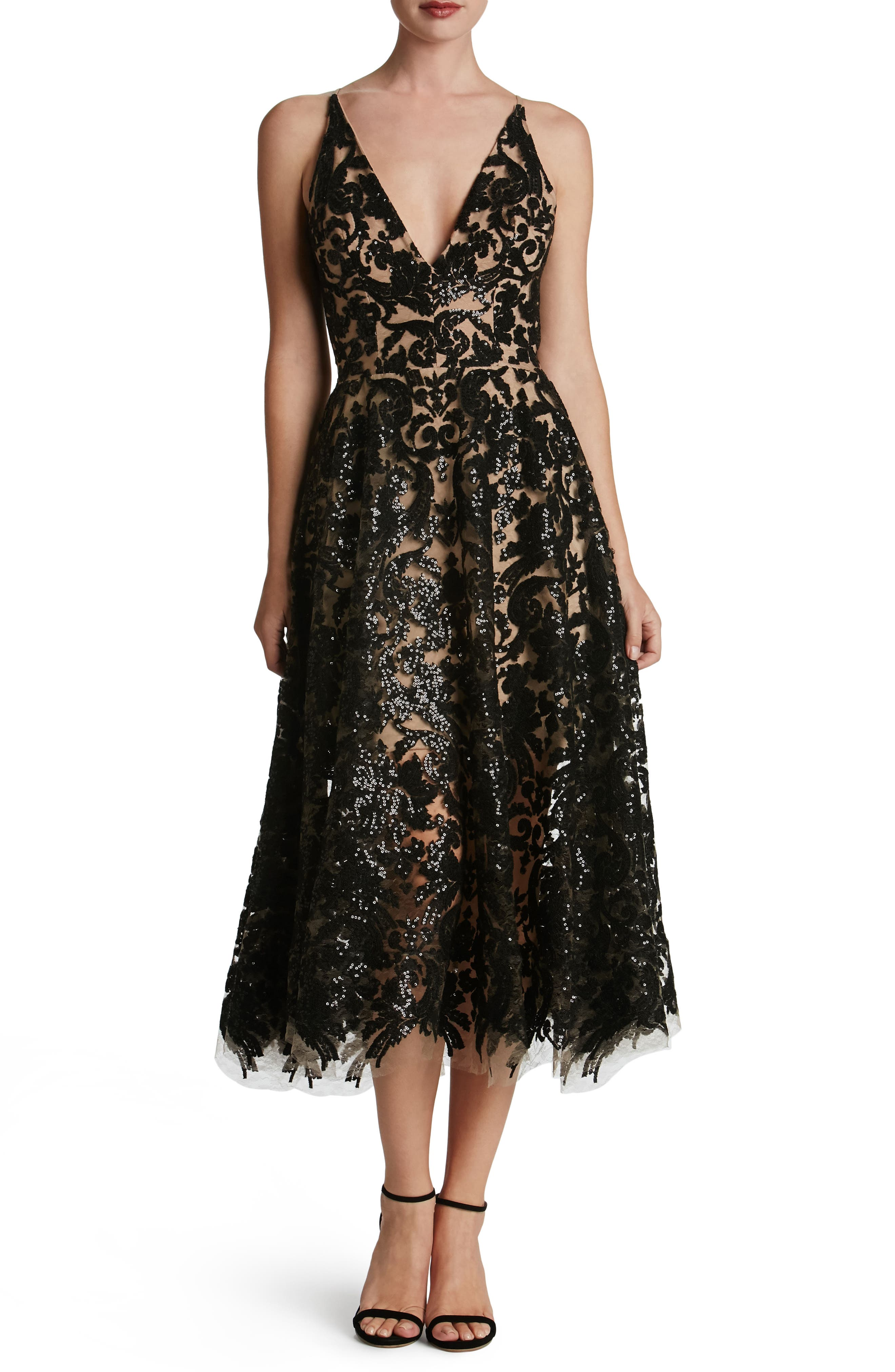 Alternate Image 1 Selected - Dress the Population Blair Embellished Fit & Flare Dress