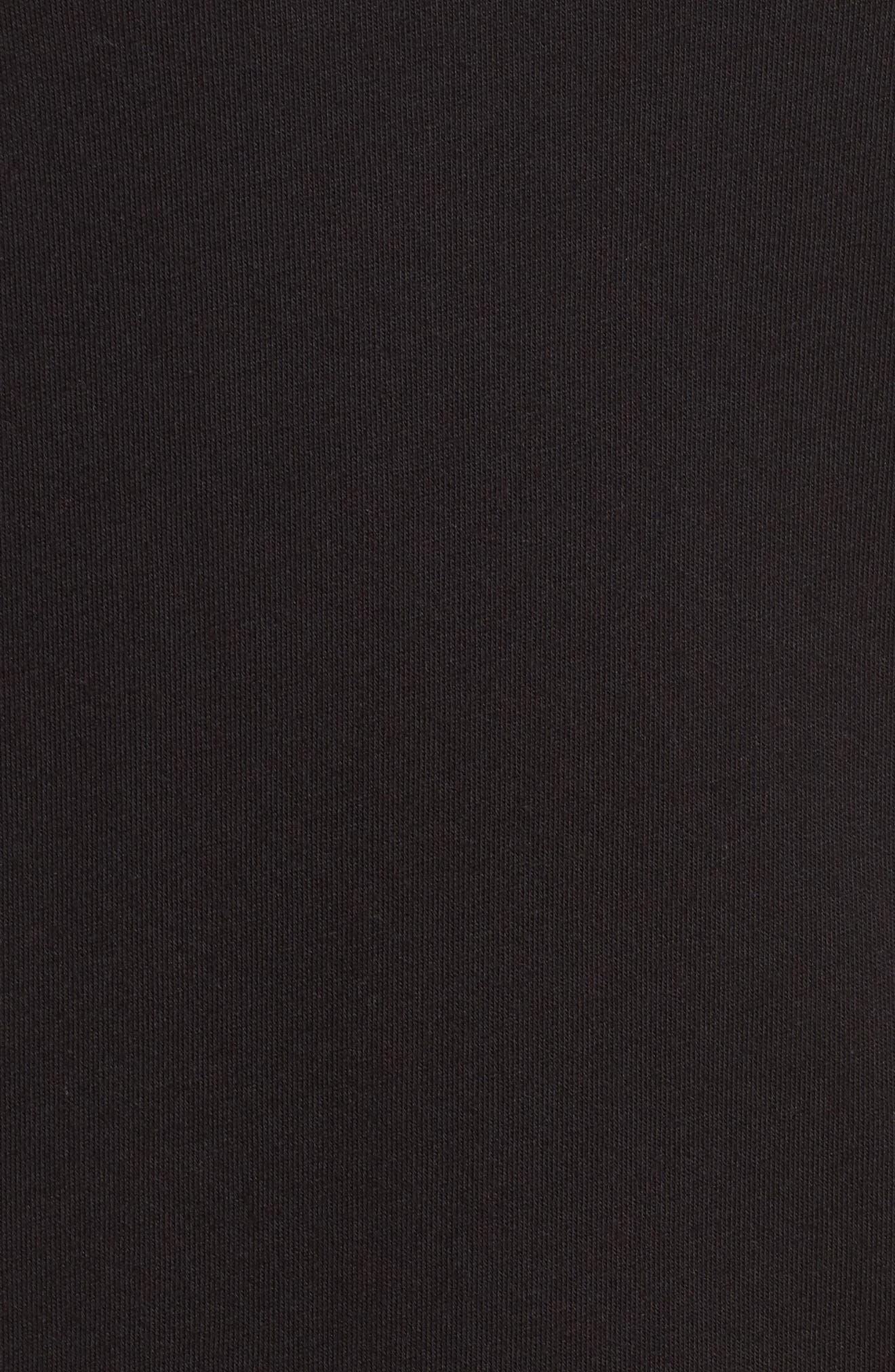 Poplin Sleeve Knit Dress,                             Alternate thumbnail 5, color,                             Black