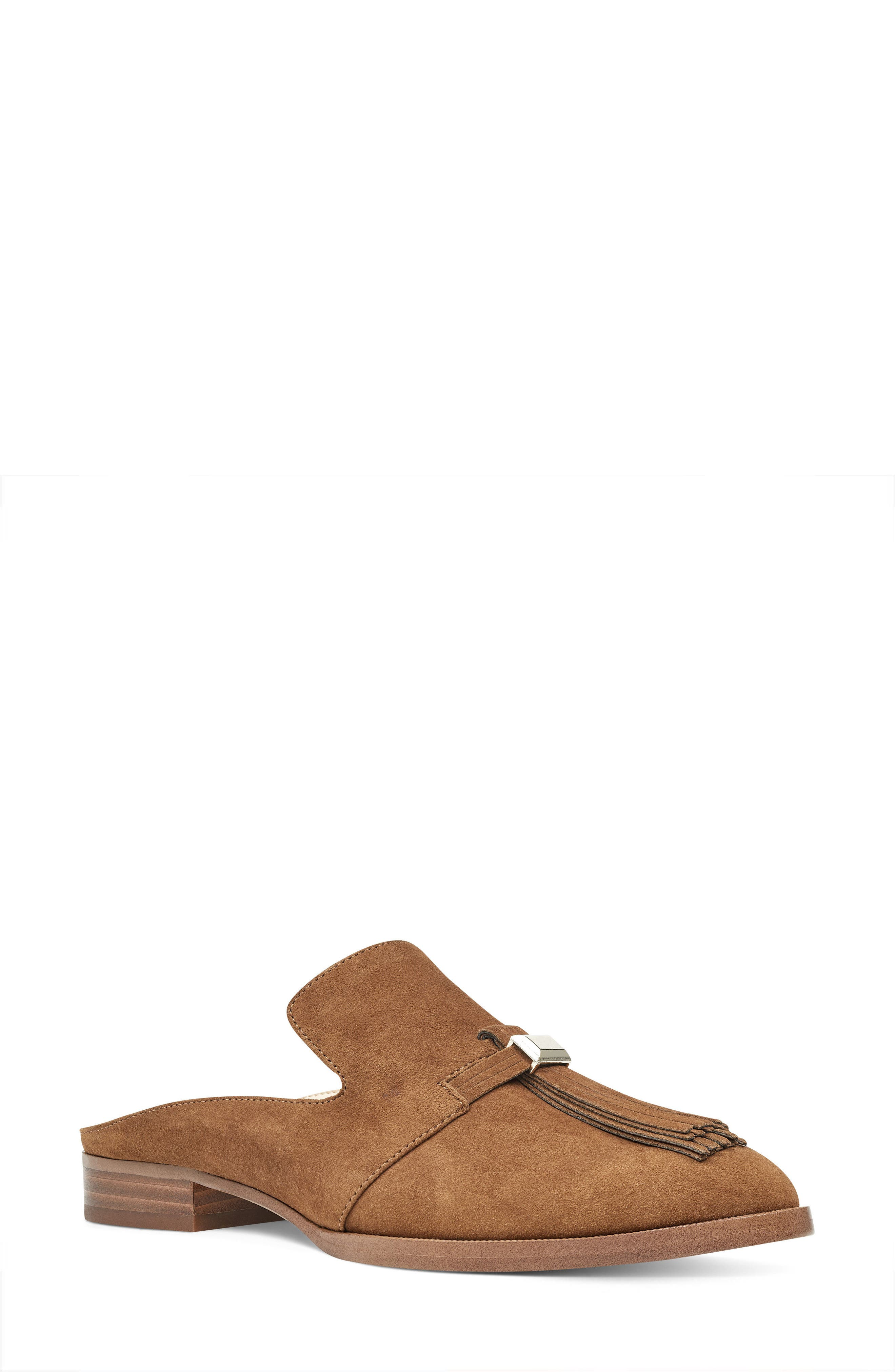 Huebart Loafer Mule,                             Main thumbnail 1, color,                             Brown Suede