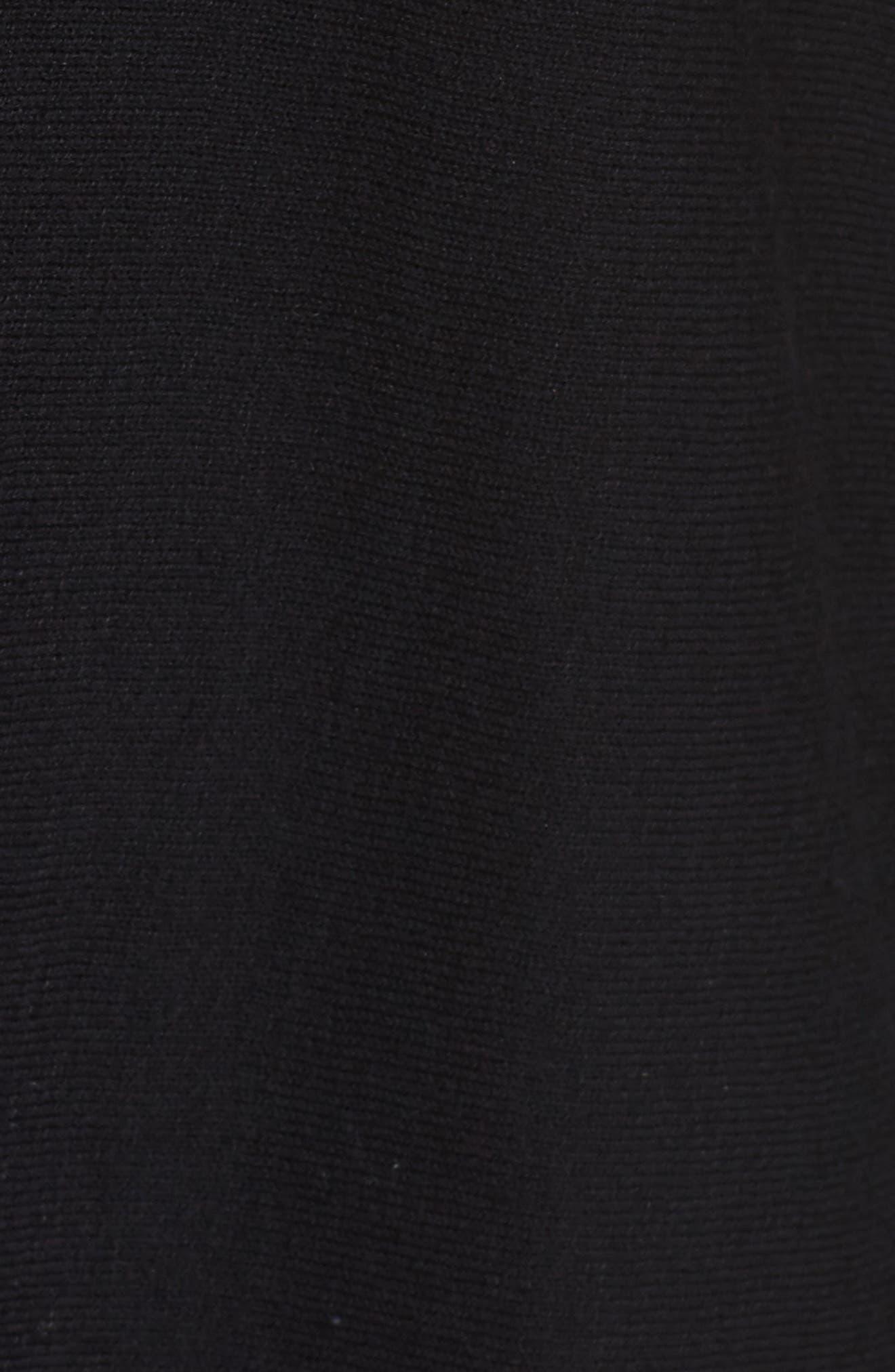 NIC + ZOE Dolman Sleeve Side Tie Top,                             Alternate thumbnail 5, color,                             Black Onyx