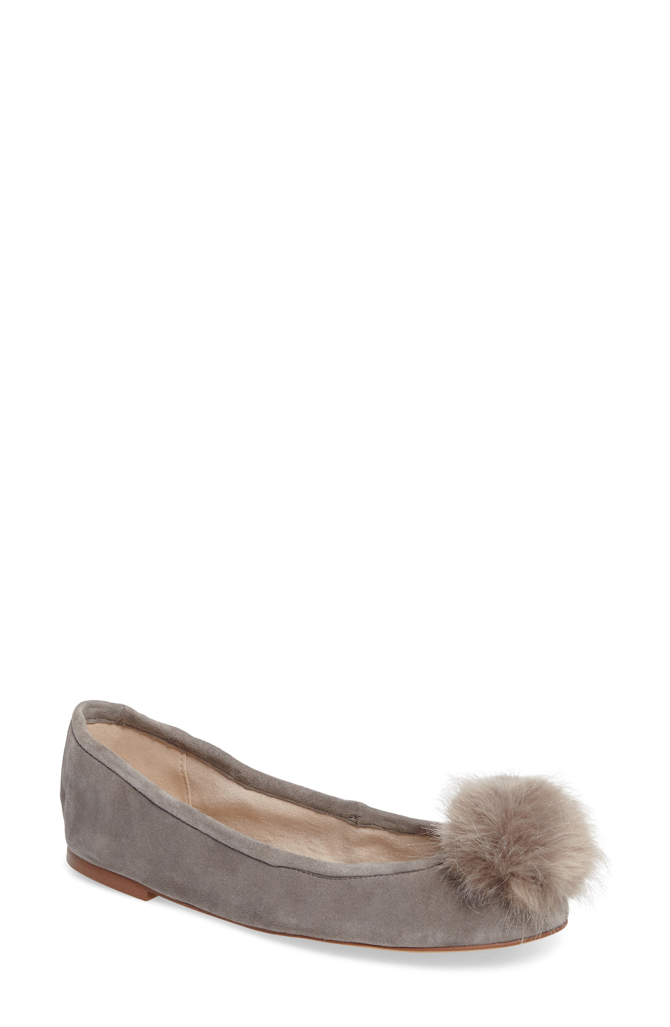 Sam Edelman Farina Flat with Faux Fur Pompom (Women)