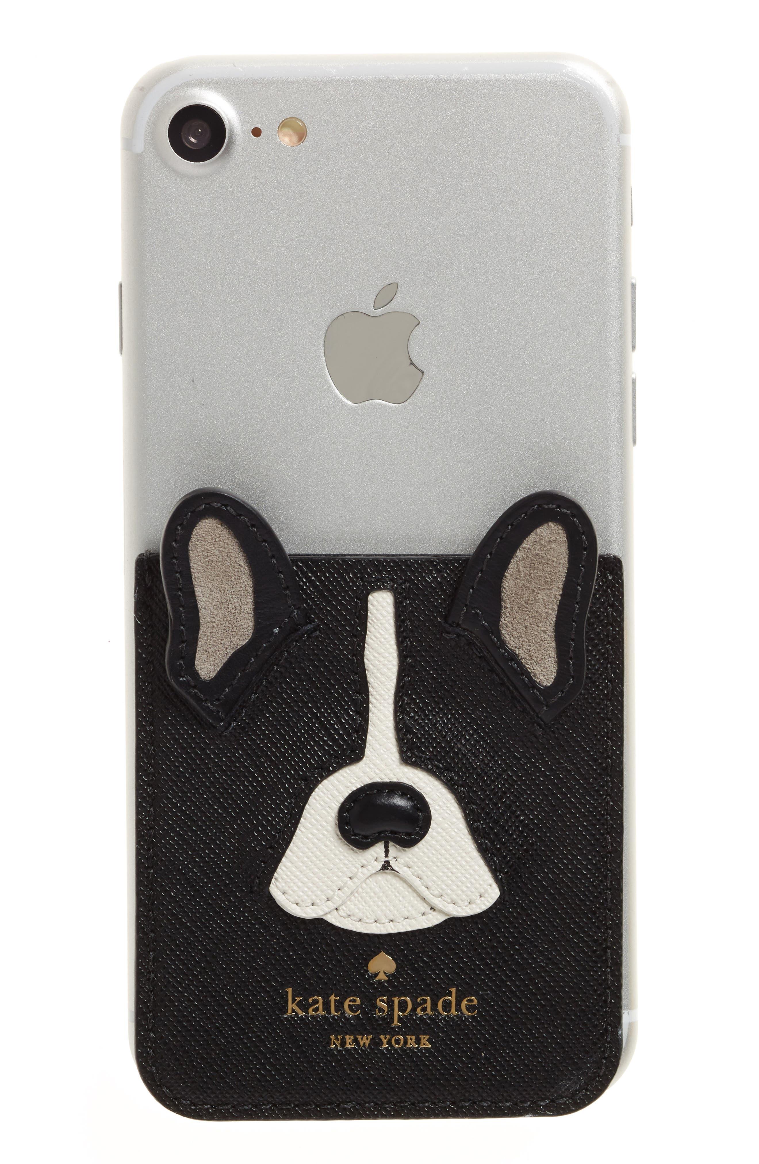 Alternate Image 1 Selected - kate spade new york antoine iPhone 7/8 sticker pocket