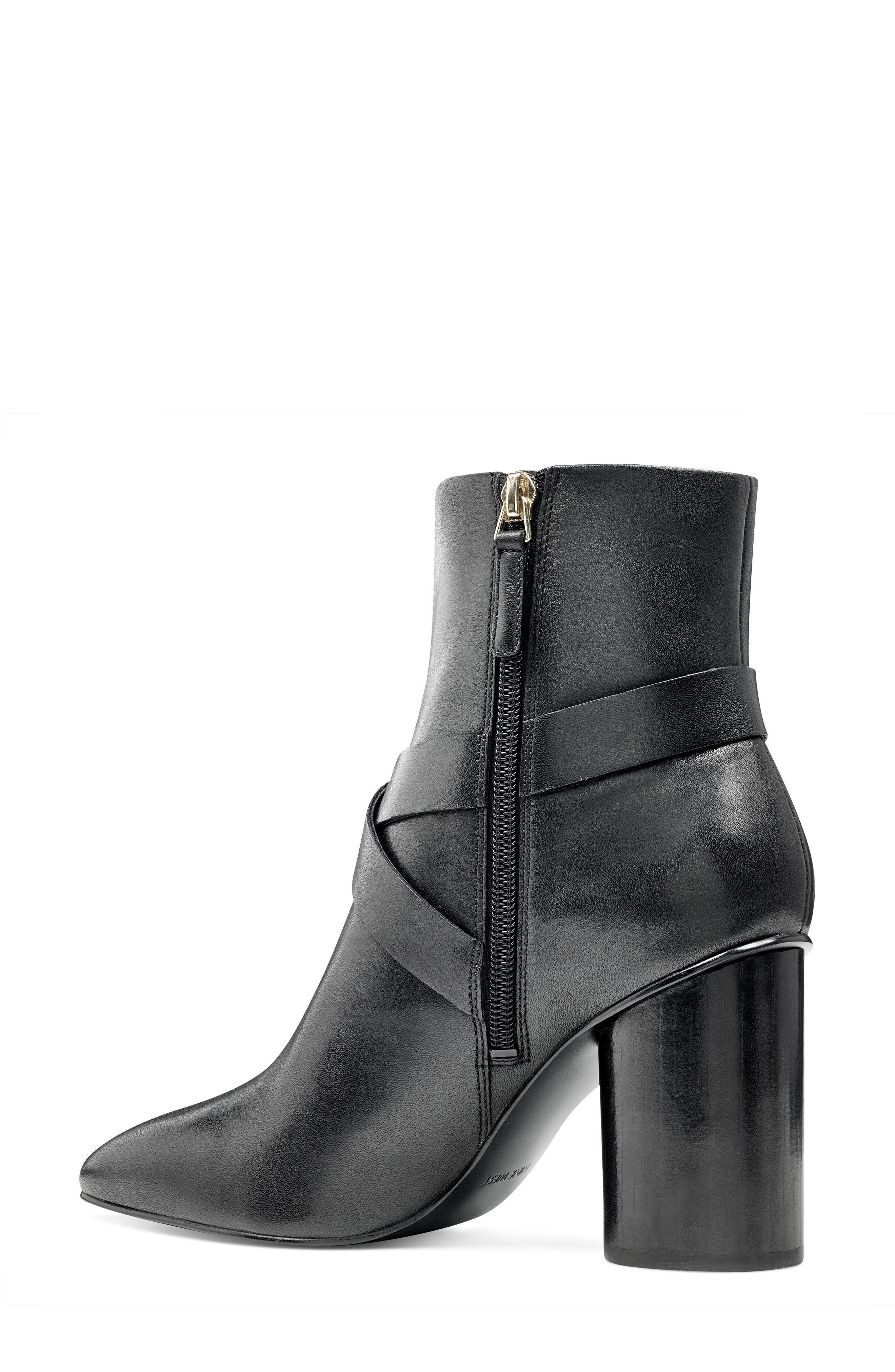 Cavanagh Pointy Toe Bootie,                             Alternate thumbnail 2, color,                             Black Leather