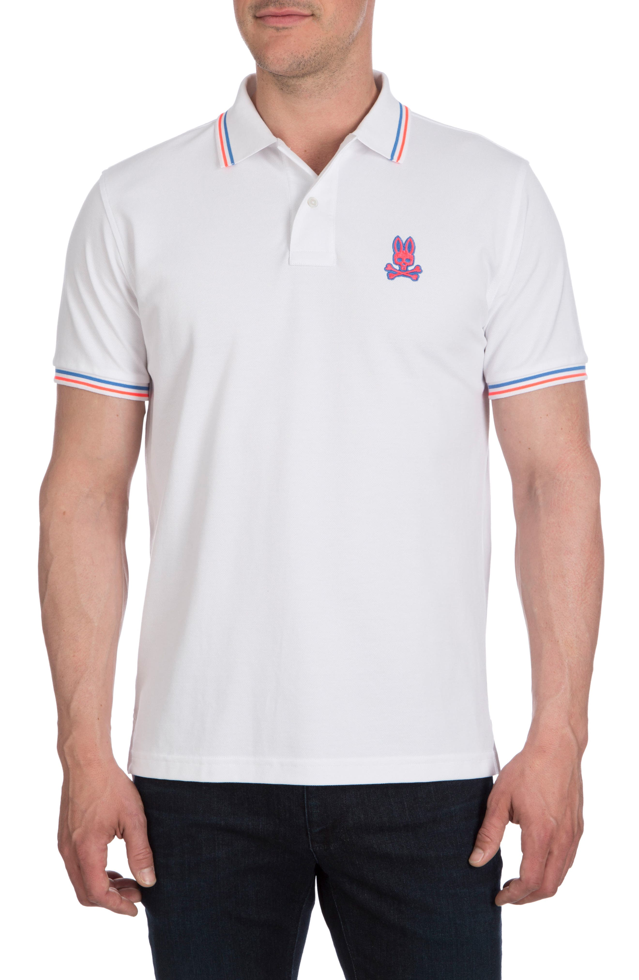 Neon Bunny Polo,                         Main,                         color, White