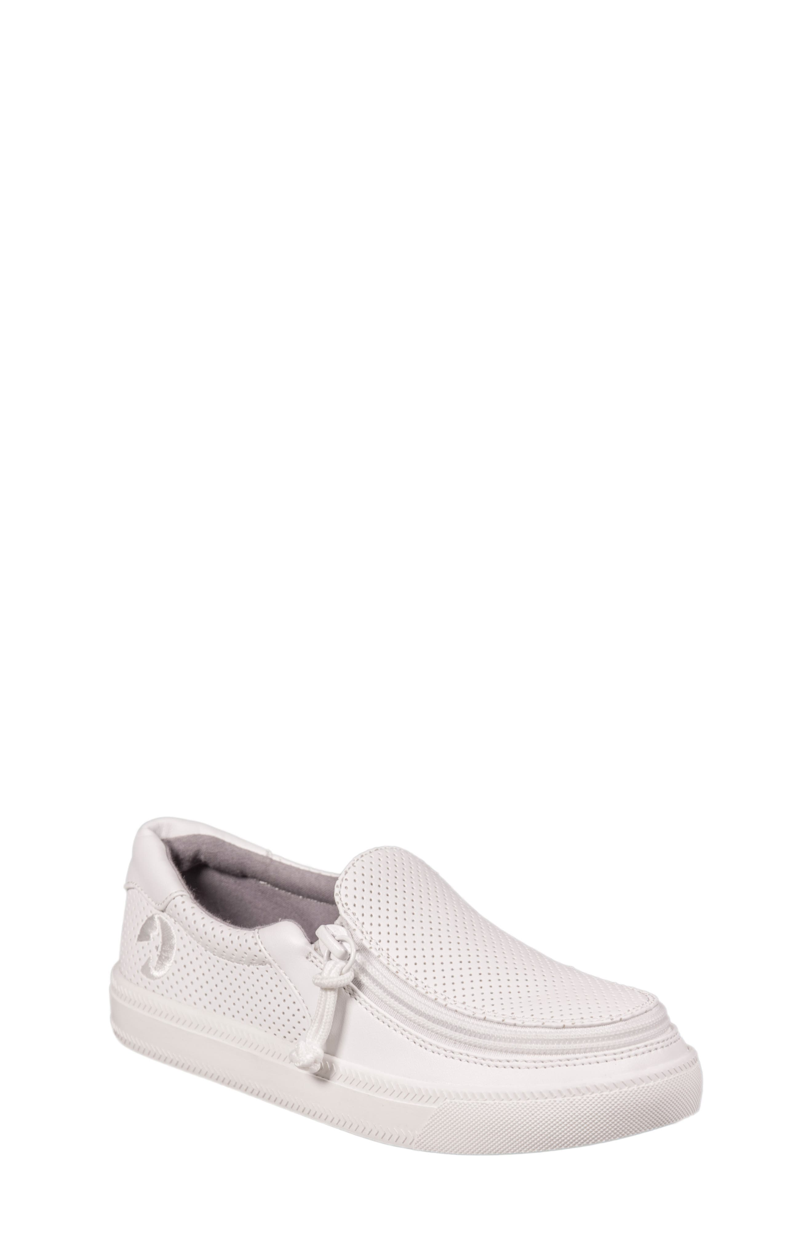 Zip Around Perforated Low Top Sneaker,                             Main thumbnail 1, color,                             White Perforated