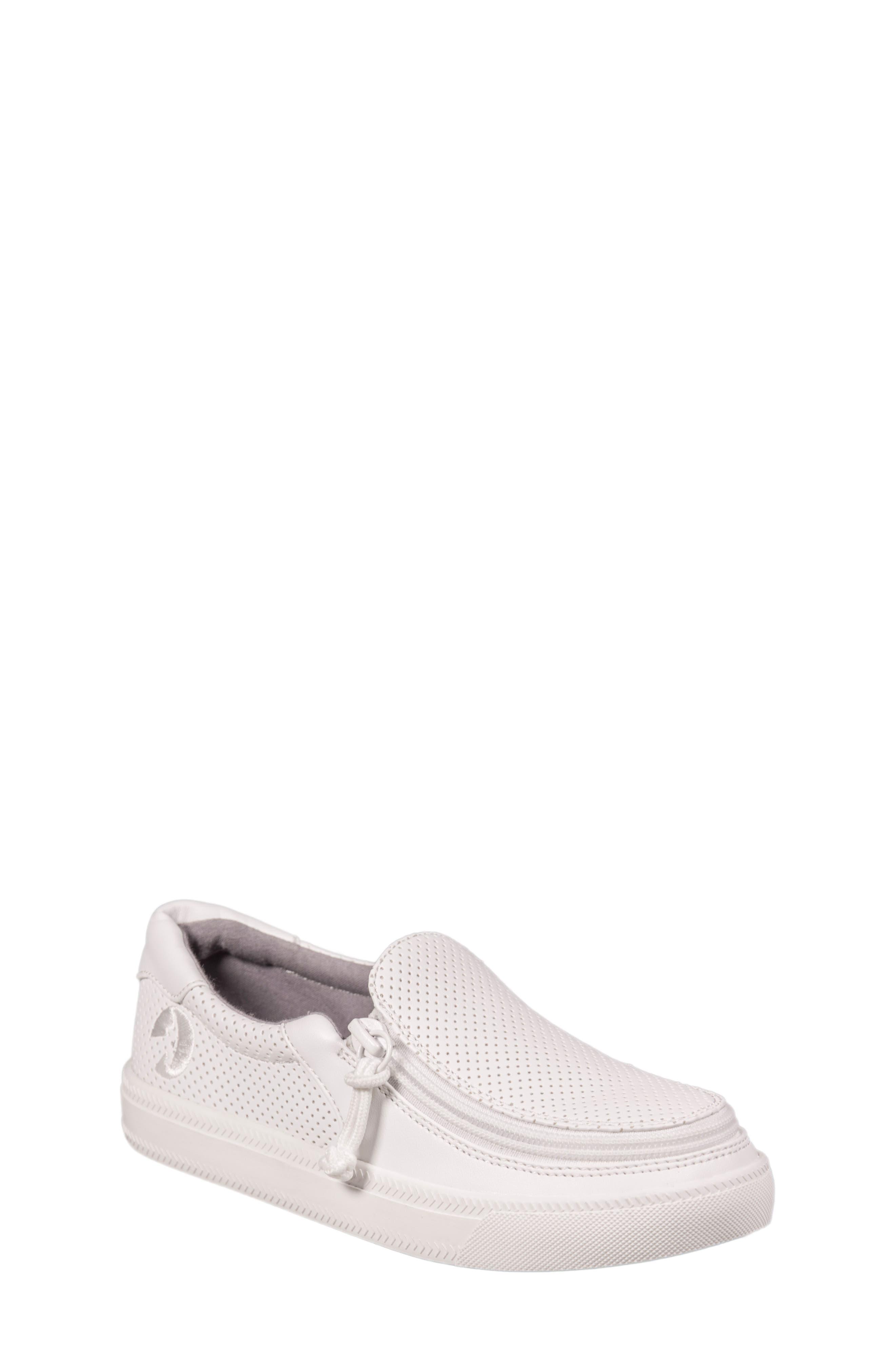 BILLY Footwear Zip Around Perforated Low Top Sneaker (Toddler, Little Kid & Big Kid)