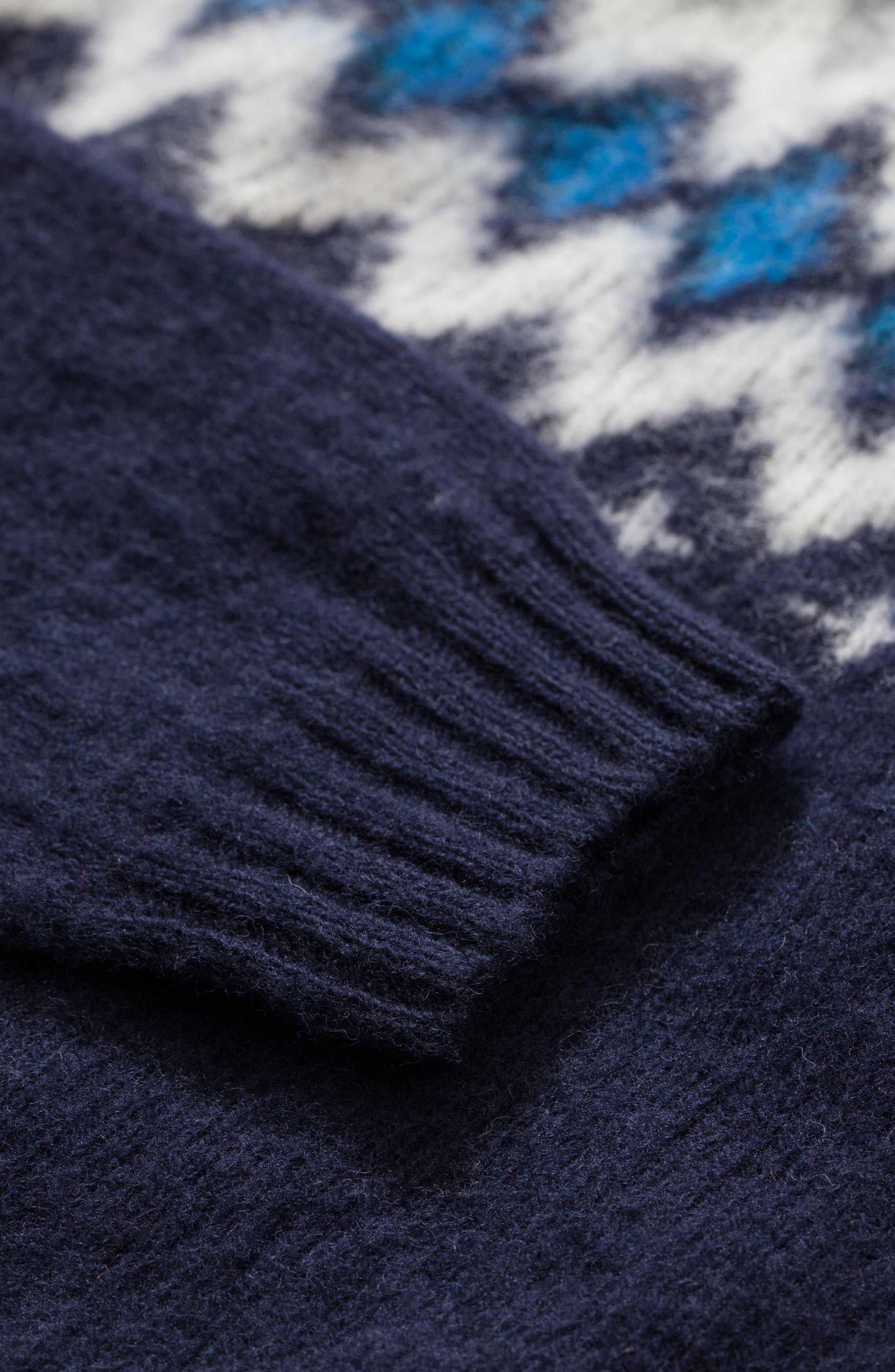 Nirnir Fair Isle Lambswool Sweater,                             Alternate thumbnail 8, color,