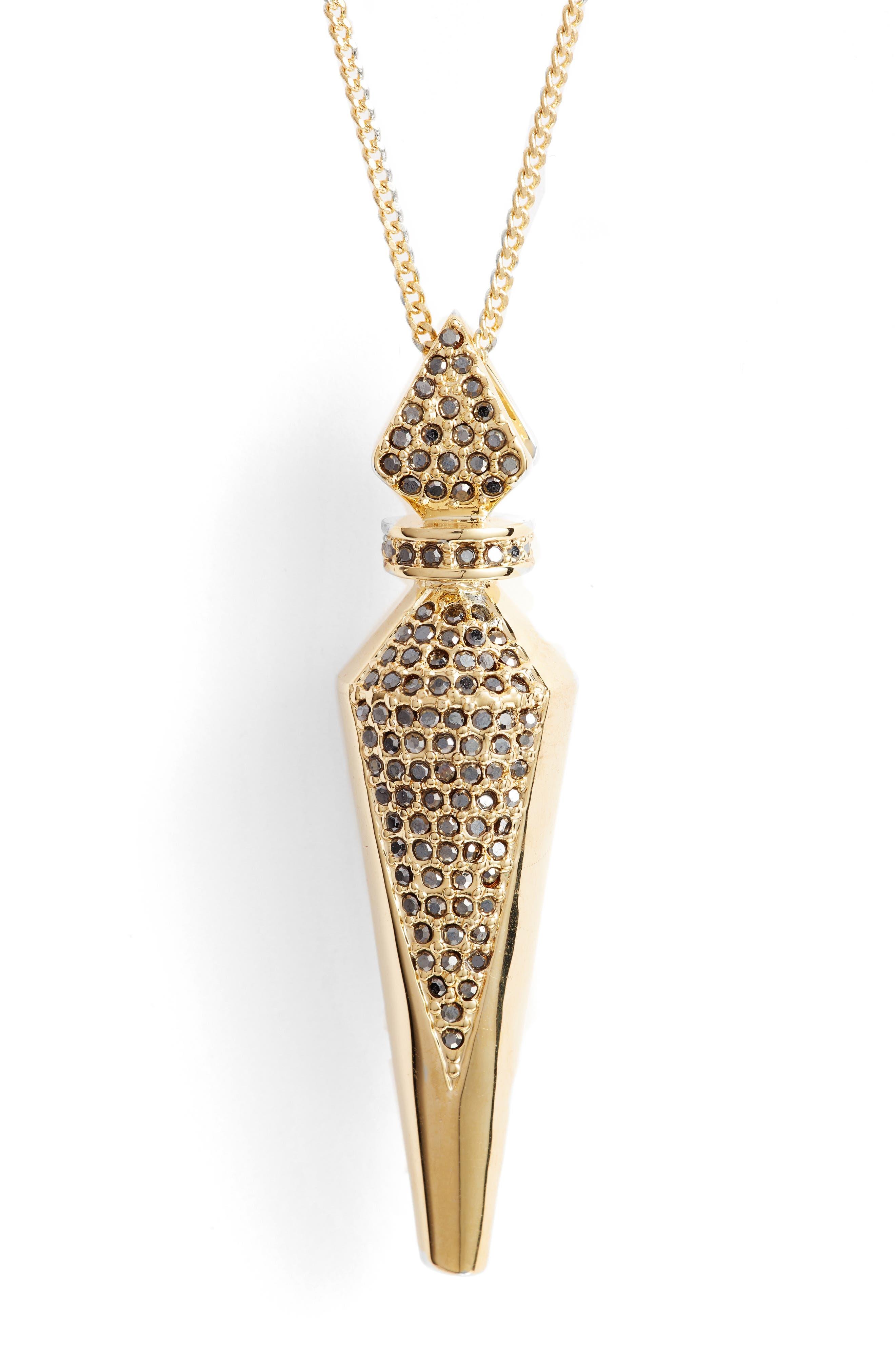Alternate Image 2  - Vince Camuto Pavé Crystal Pendant Necklace