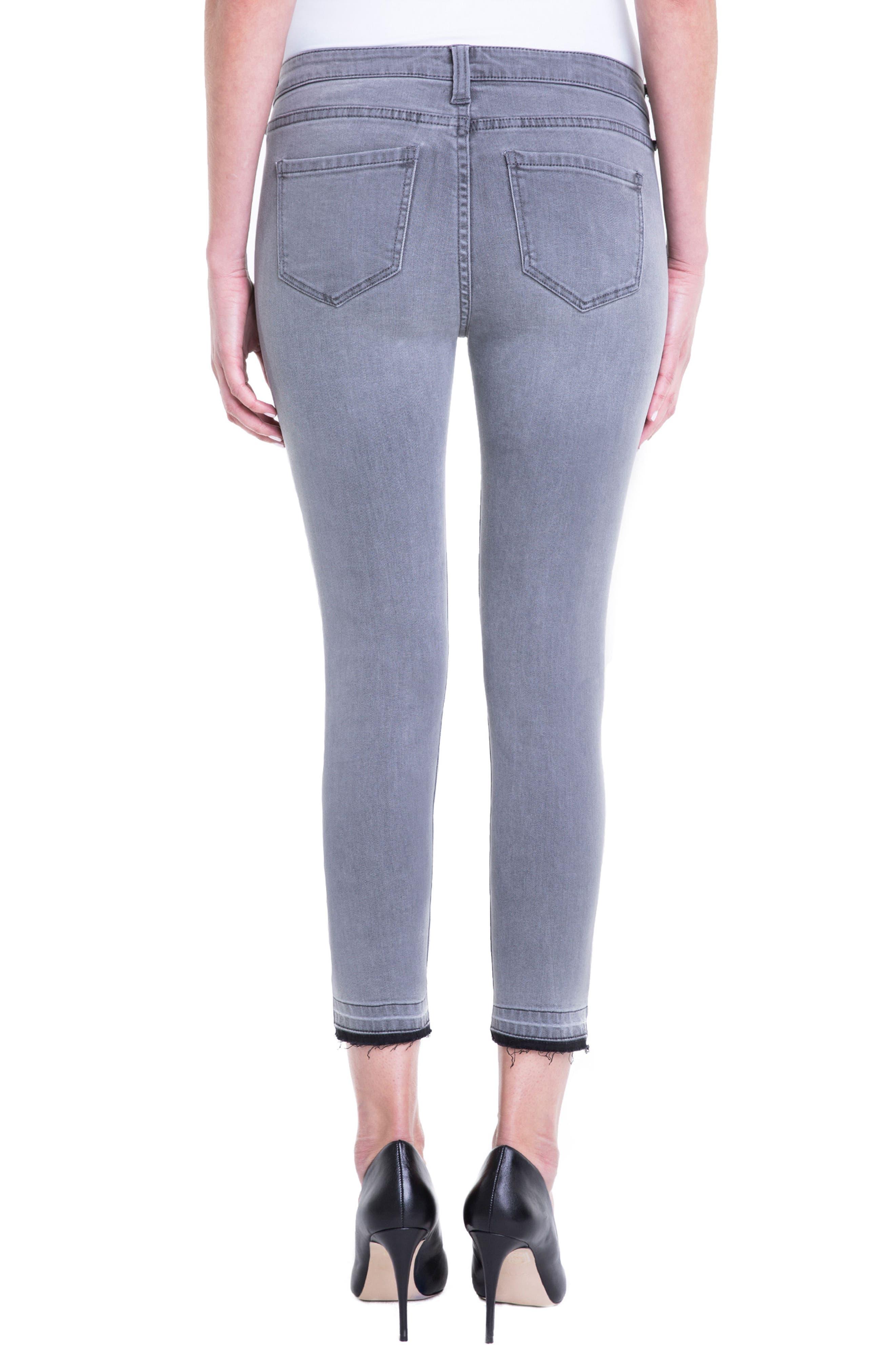Avery Release Hem Crop Jeans,                             Alternate thumbnail 3, color,                             Aluminum Wash