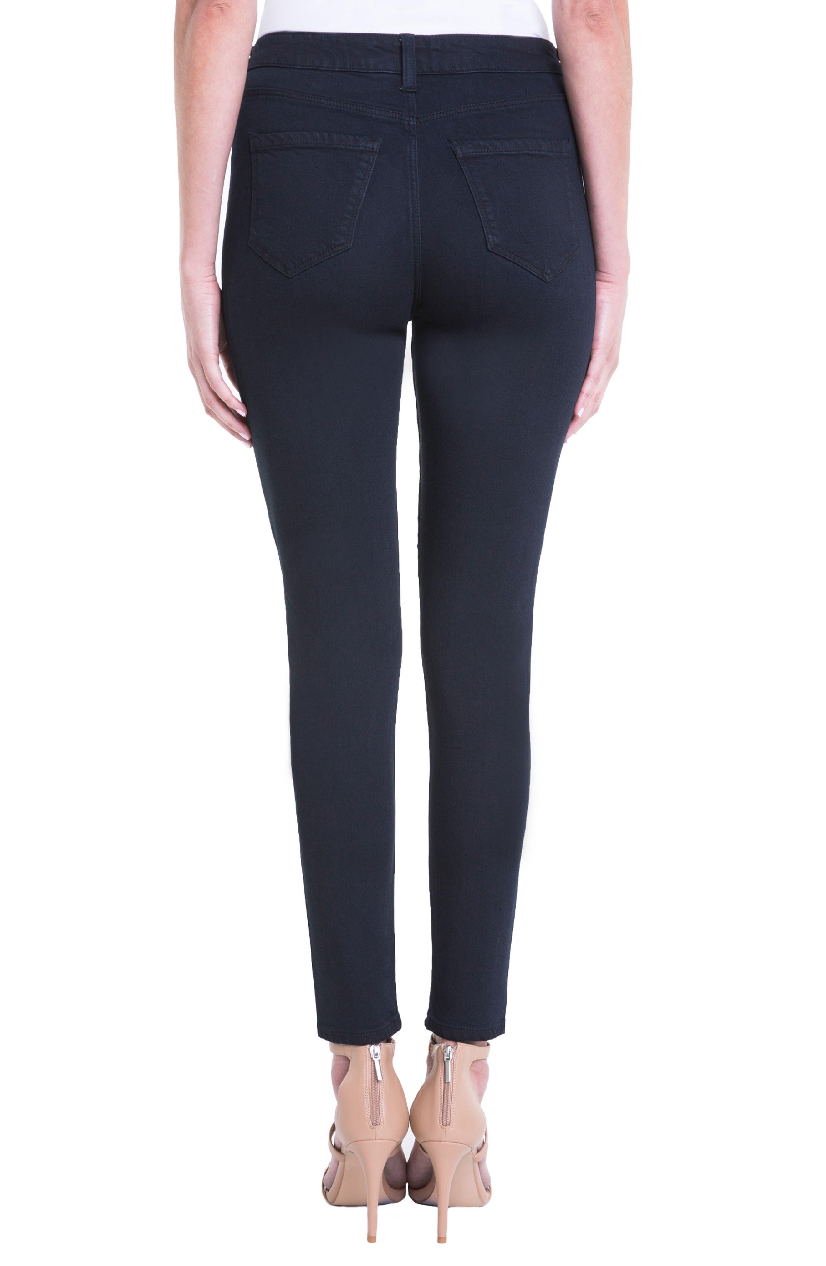 Jeans Company Bridget High Waist Skinny Jeans,                             Alternate thumbnail 2, color,                             Indigo Over Dye Black