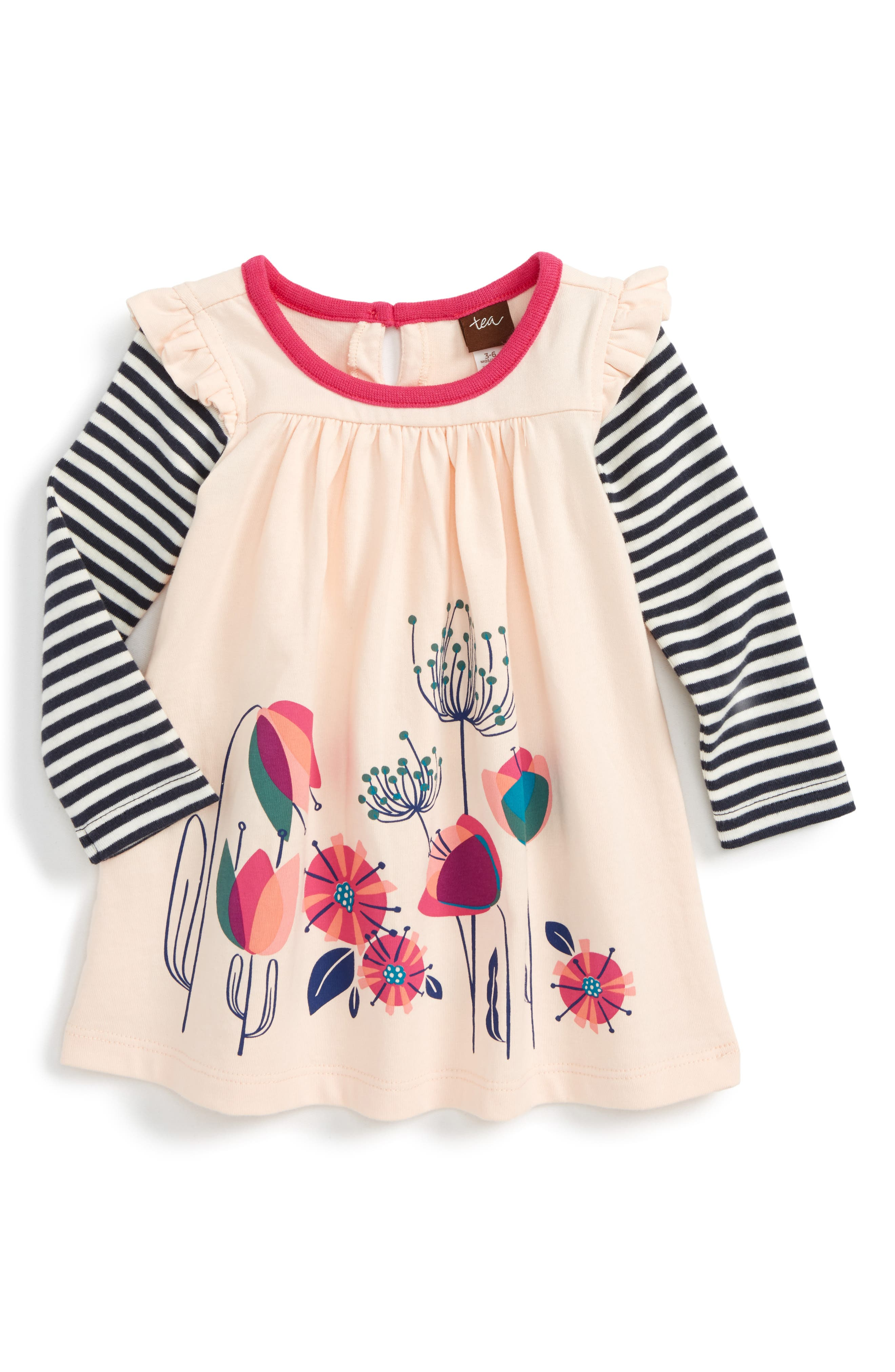 Tea Collection Glasgow Gardens Mighty Mini Double Decker Dress (Baby Girls)