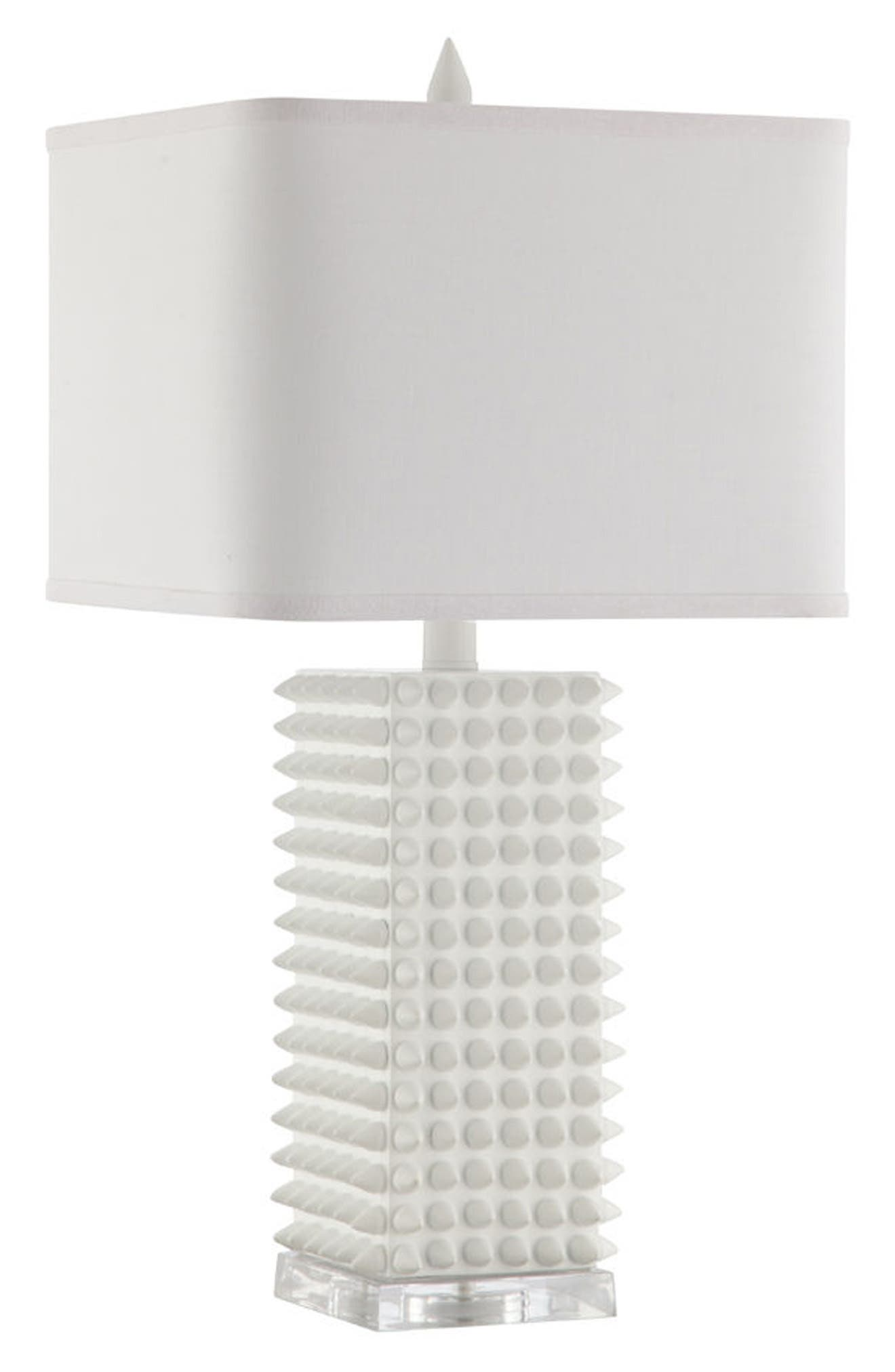 JAlexander Spike Table Lamp,                         Main,                         color, White