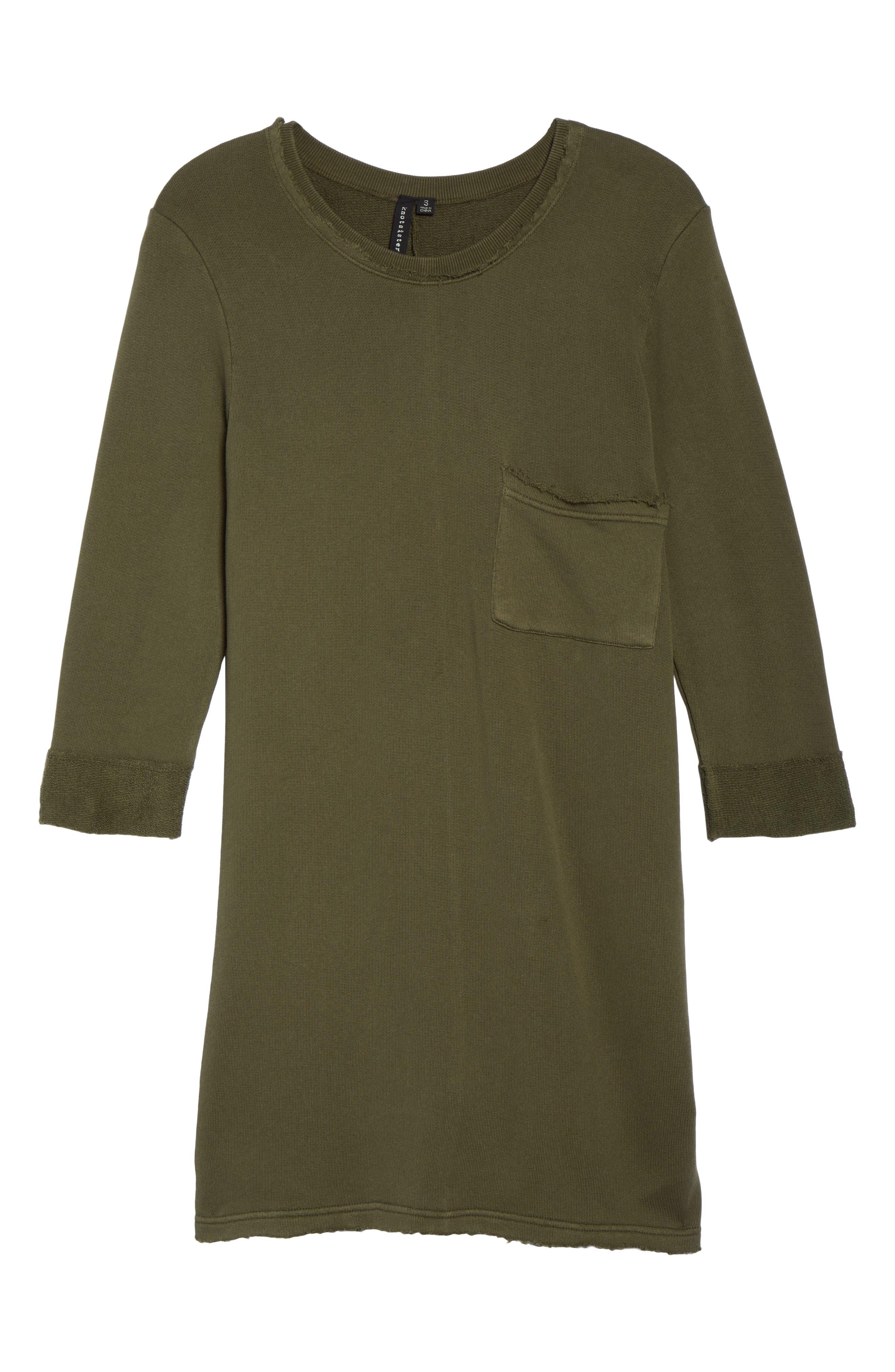 Chicago T-Shirt Dress,                             Alternate thumbnail 6, color,                             Military Green