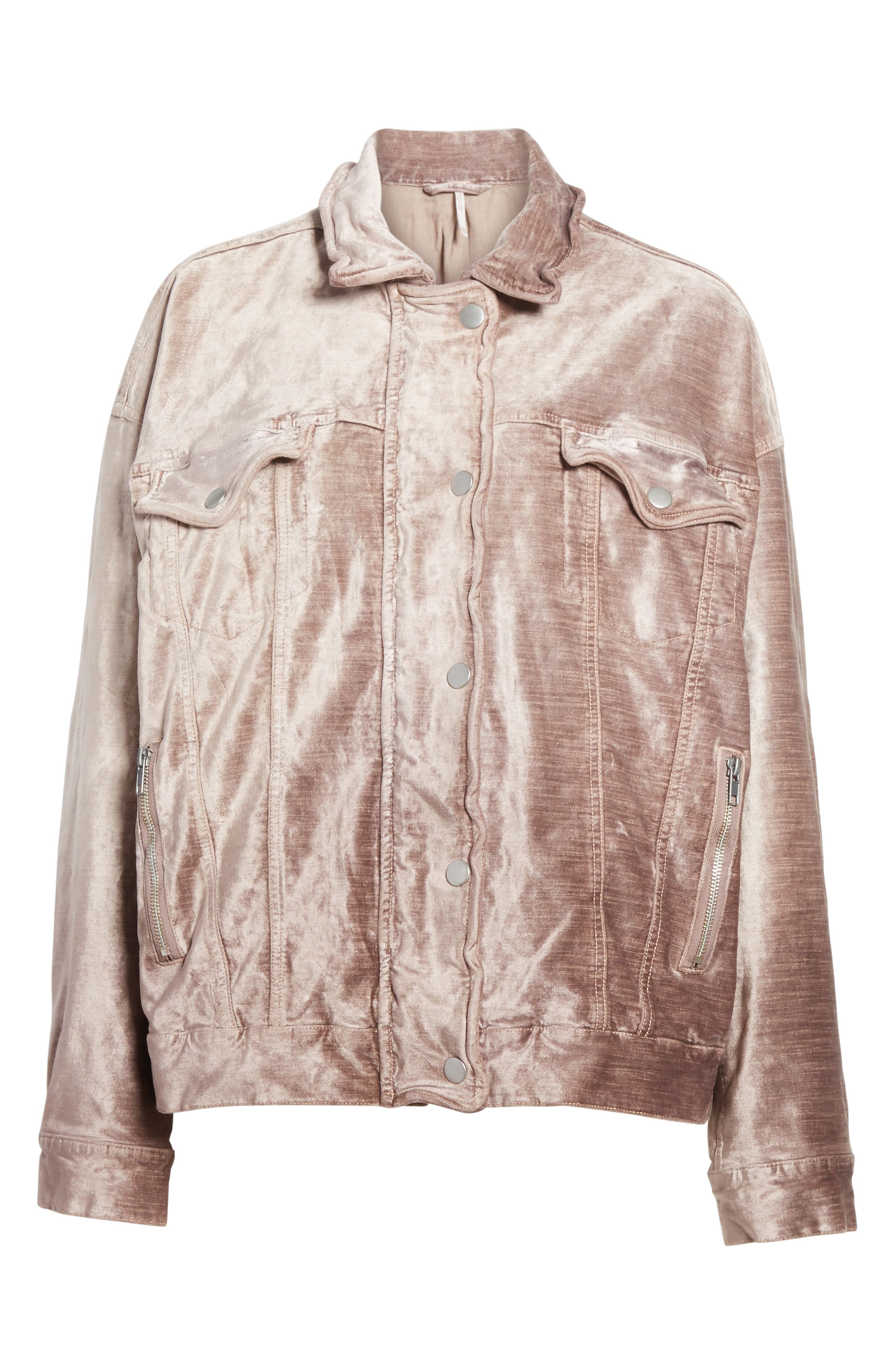 Alternate Image 6  - Free People Velvet Trucker Jacket