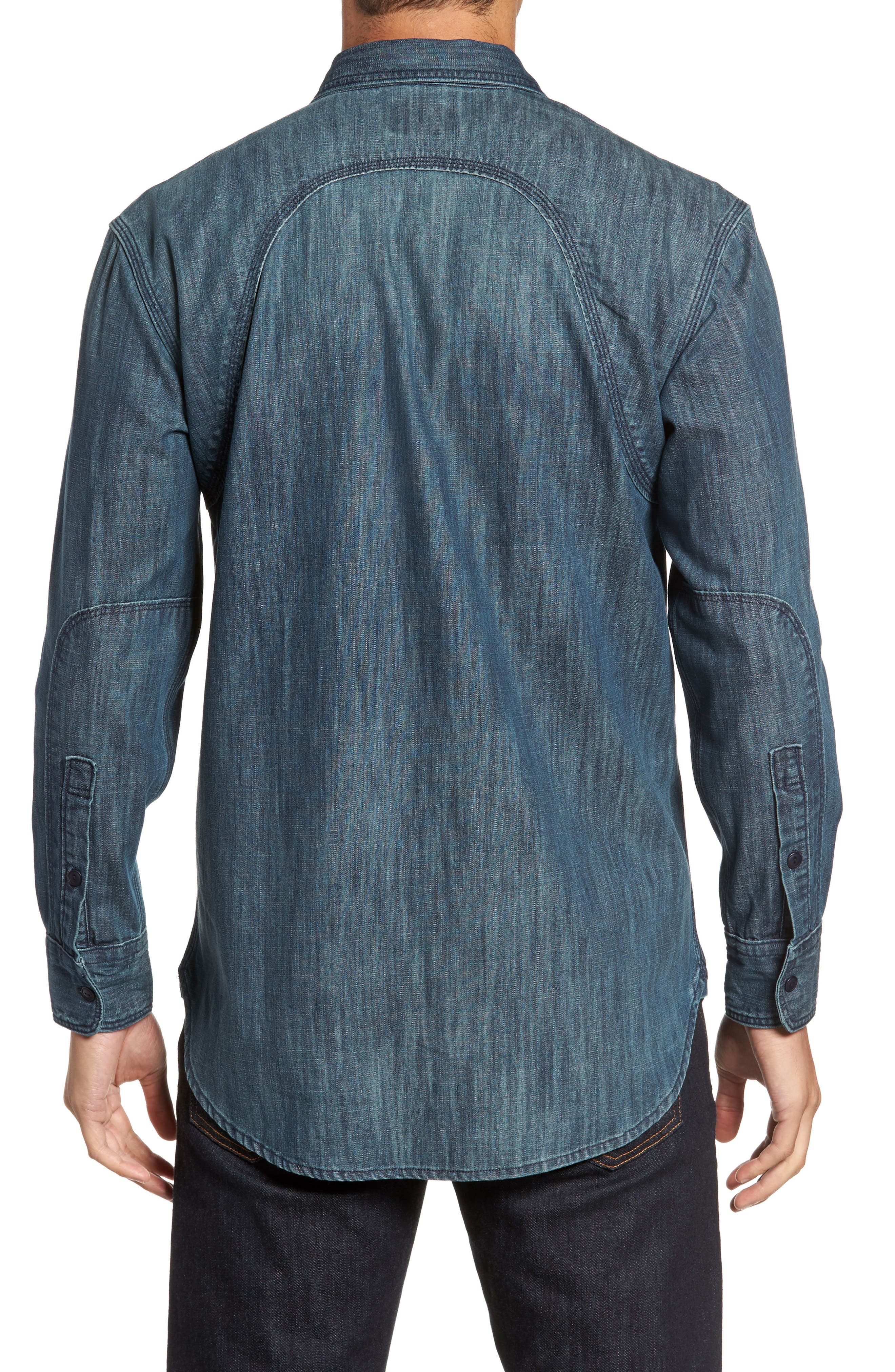 Alternate Image 2  - FLYNT Regular Fit Denim Shirt