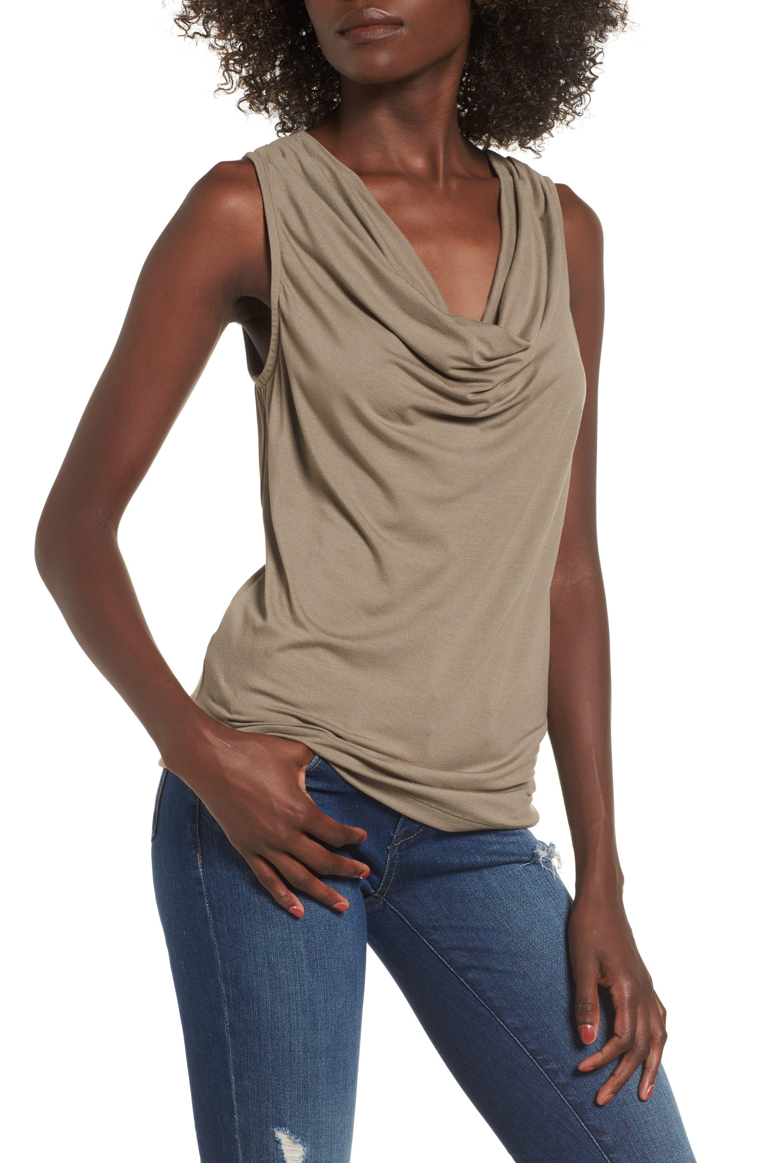 Alternate Image 1 Selected - SuperTrash Tangy Drape Neck Sleeveless Top