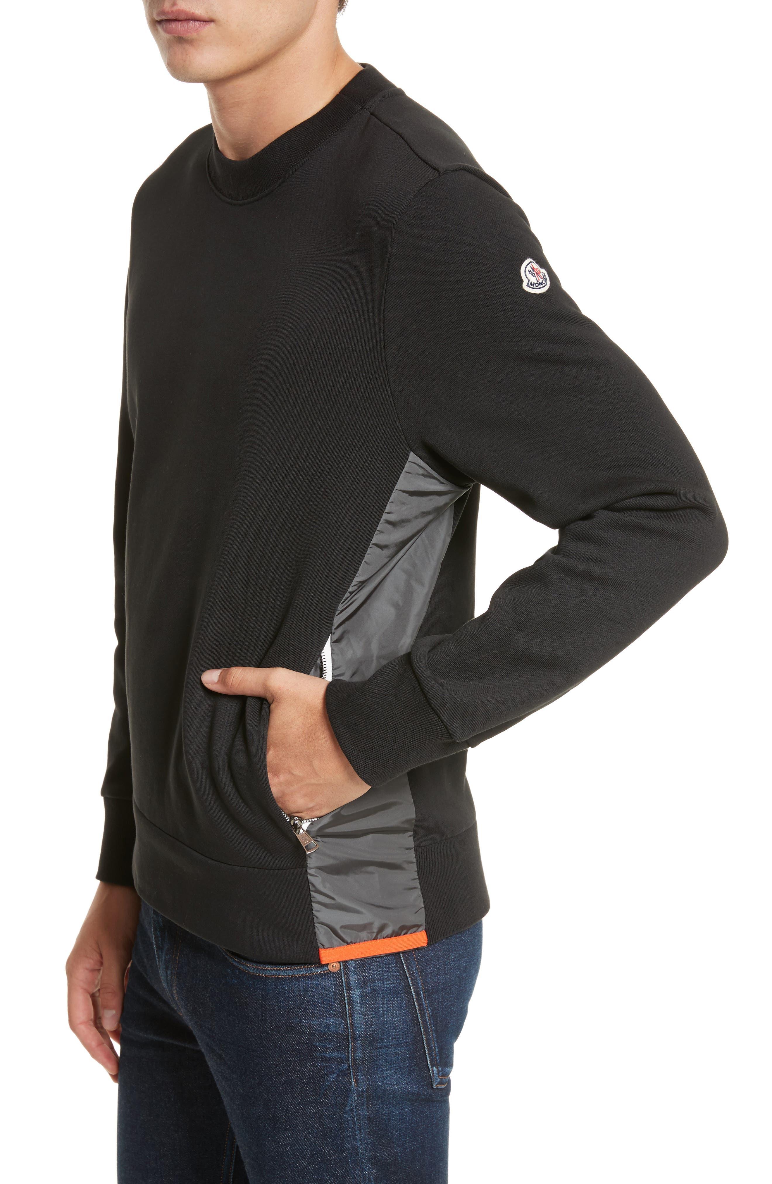 Maglia Crewneck Sweatshirt,                         Main,                         color, Black