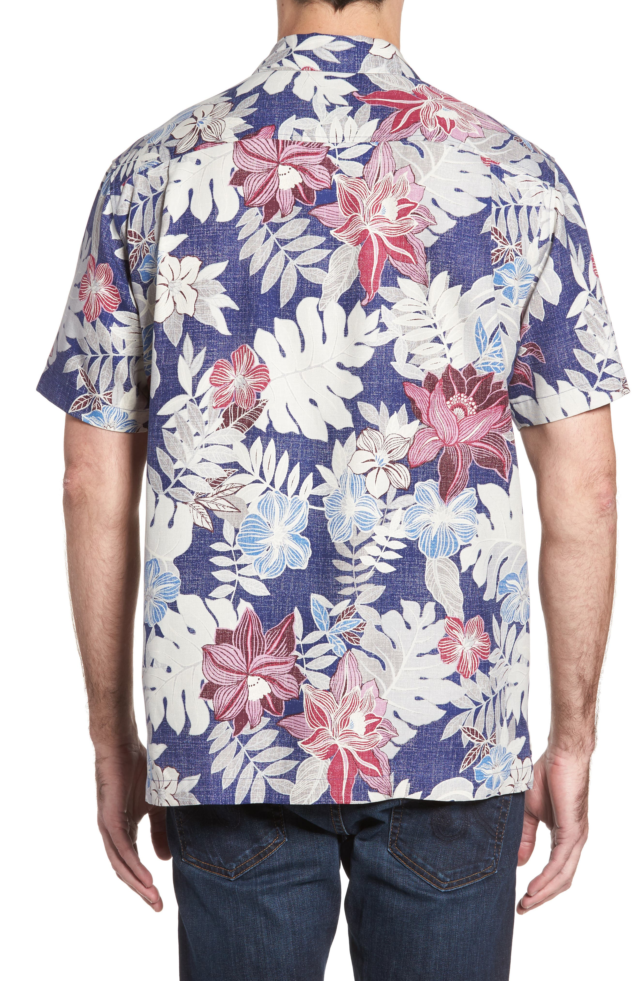 Alternate Image 2  - Tommy Bahama Desert Blooms Original Fit Print Silk Camp Shirt