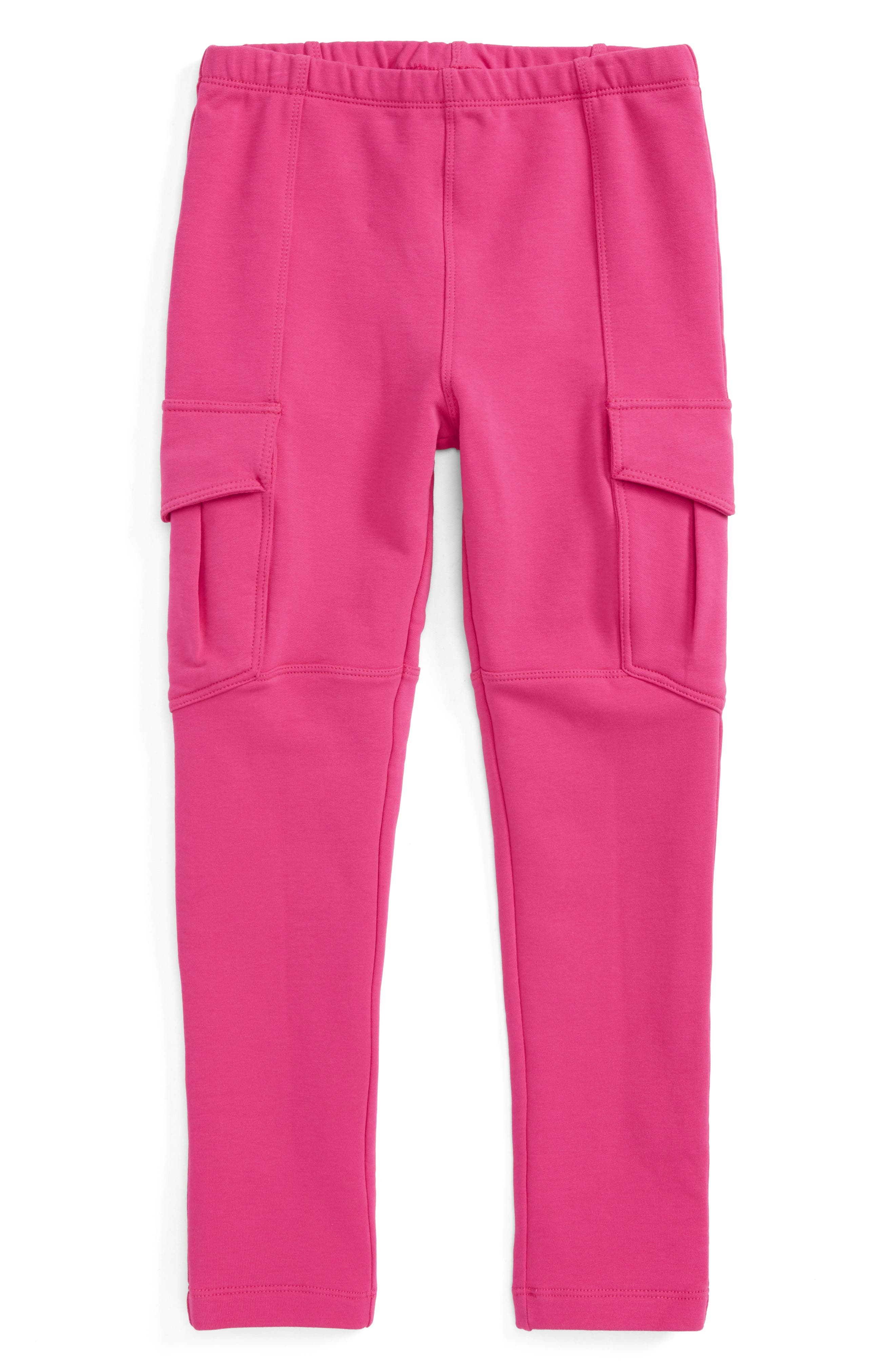 French Terry Cargo Pants,                         Main,                         color, Shocking Fuschia