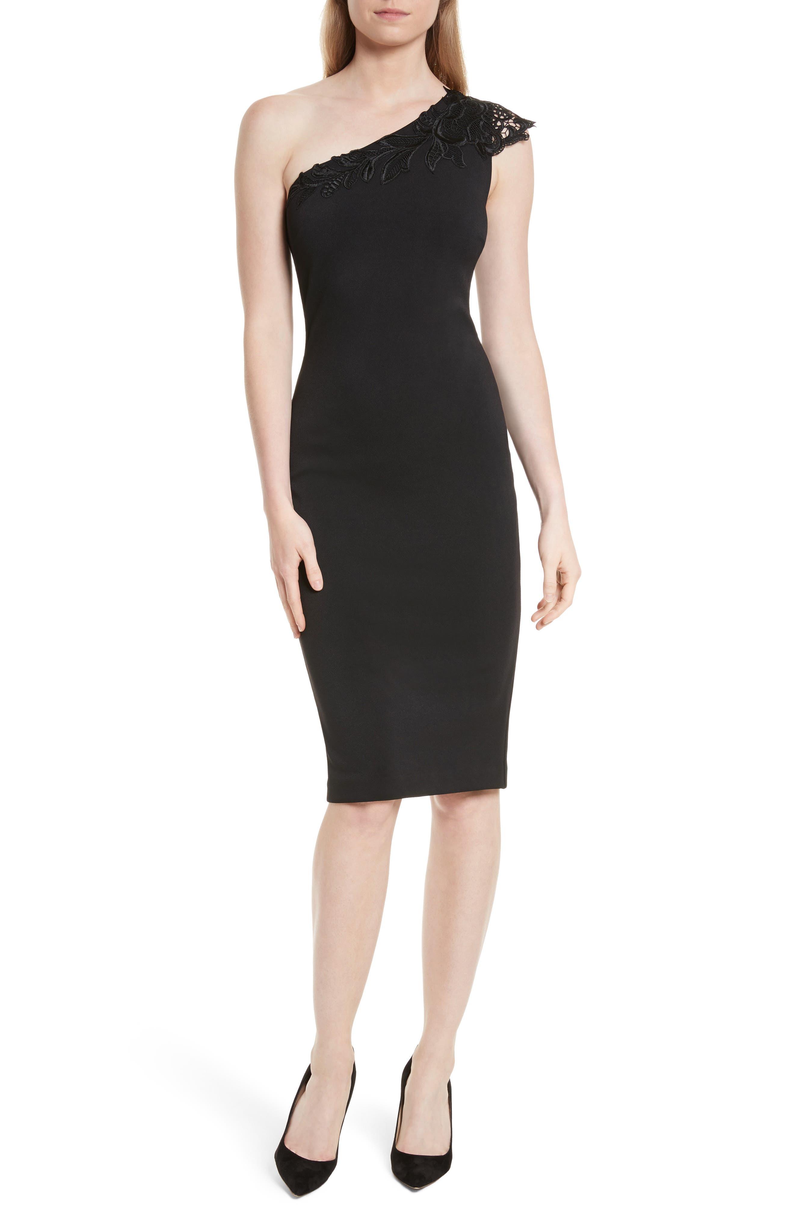 Ted Baker London One-Shoulder Lace Dress