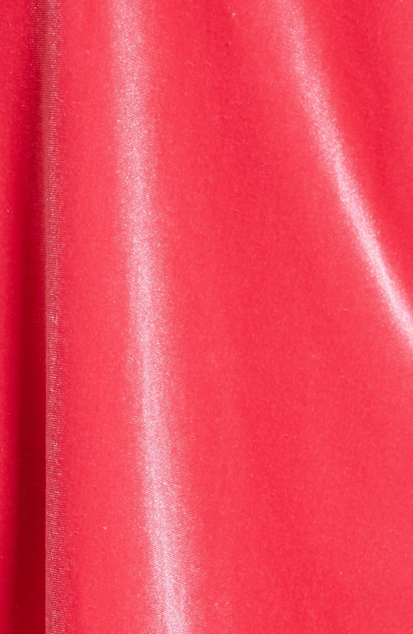Alternate Image 5  - Free People Misha Velvet Minidress