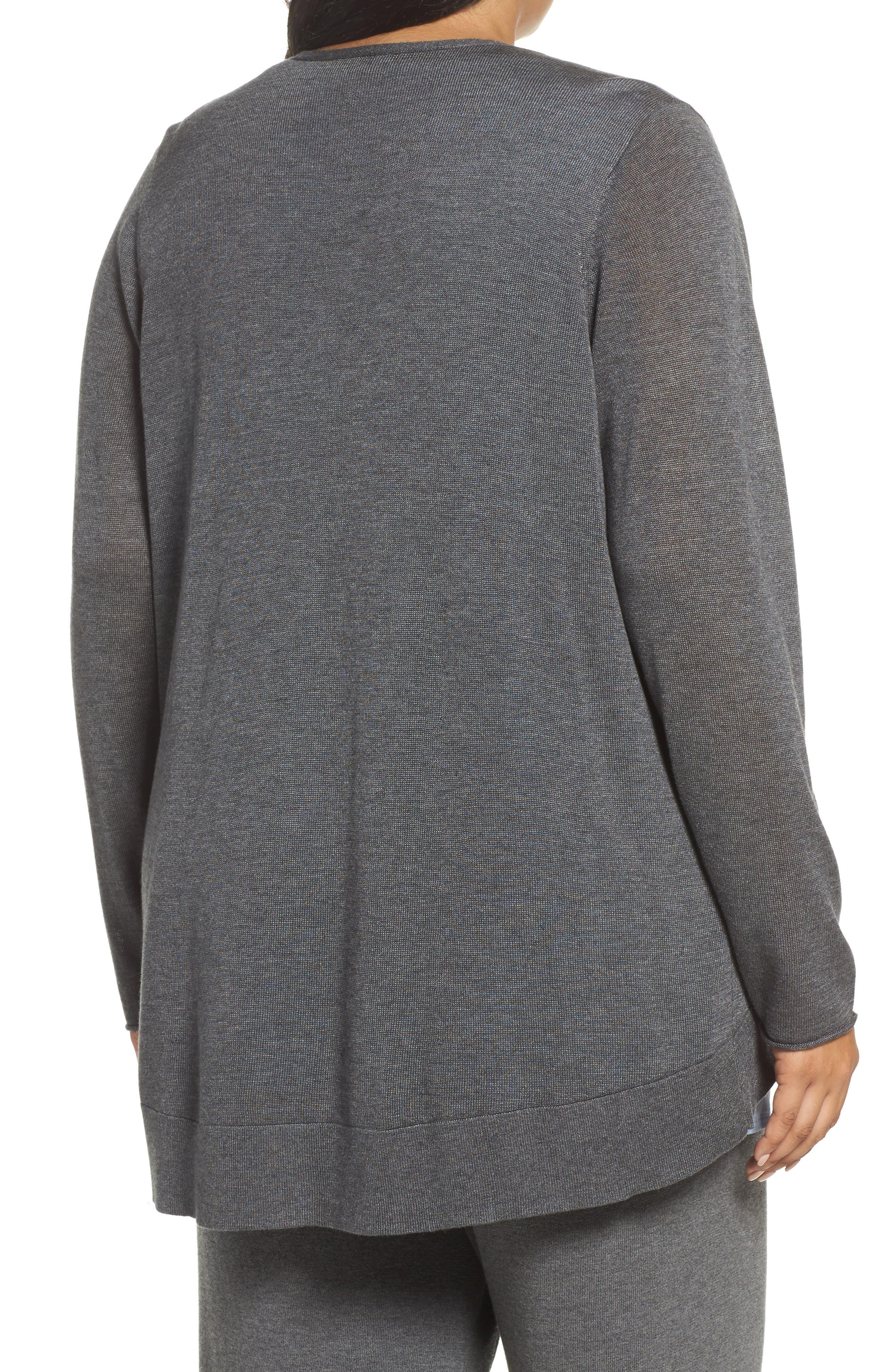 Alternate Image 2  - Eileen Fisher Slouchy Tencel® Blend Cardigan (Plus Size)