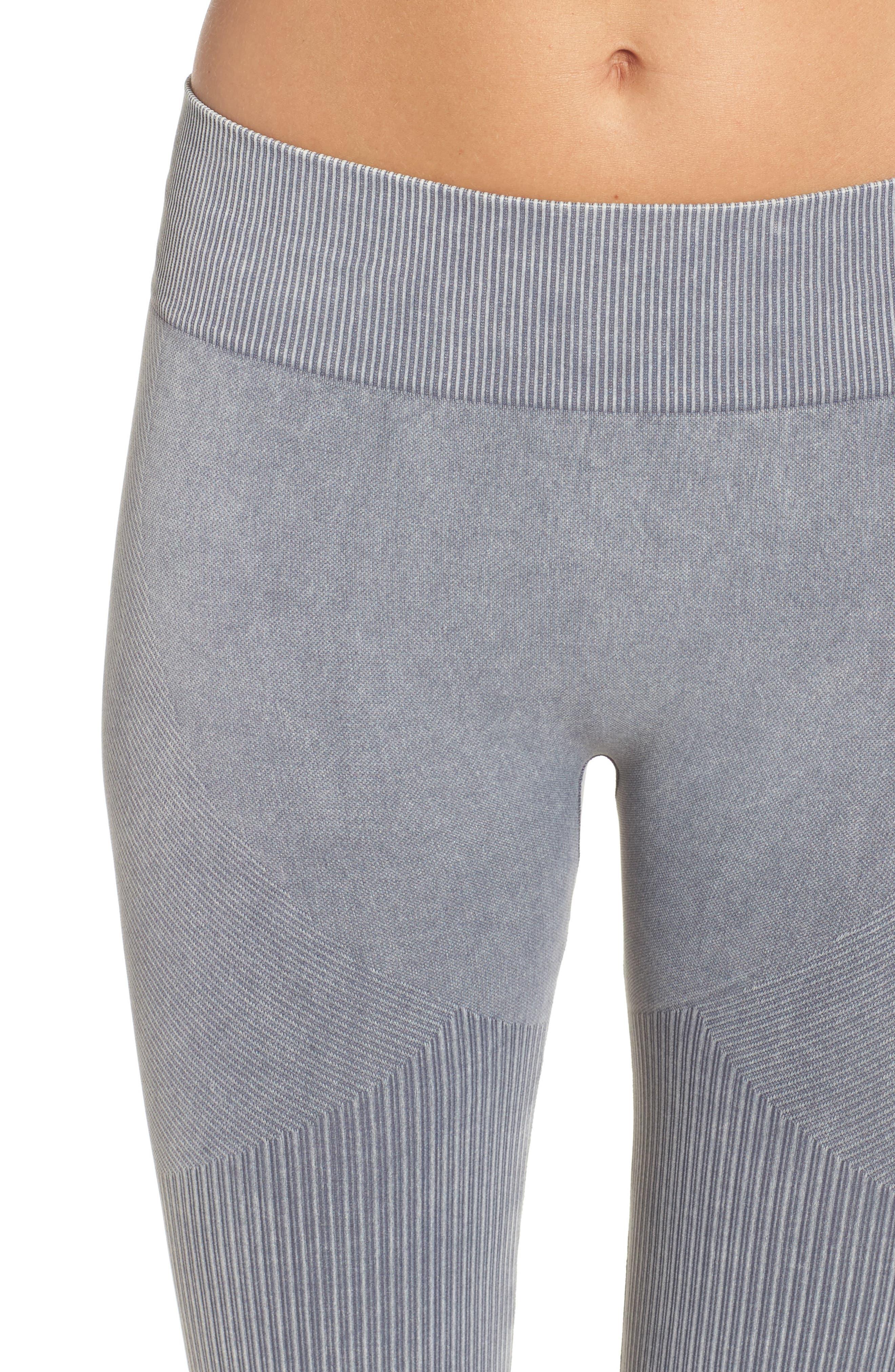 Seamless Crop Leggings,                             Alternate thumbnail 4, color,                             Slate Grey