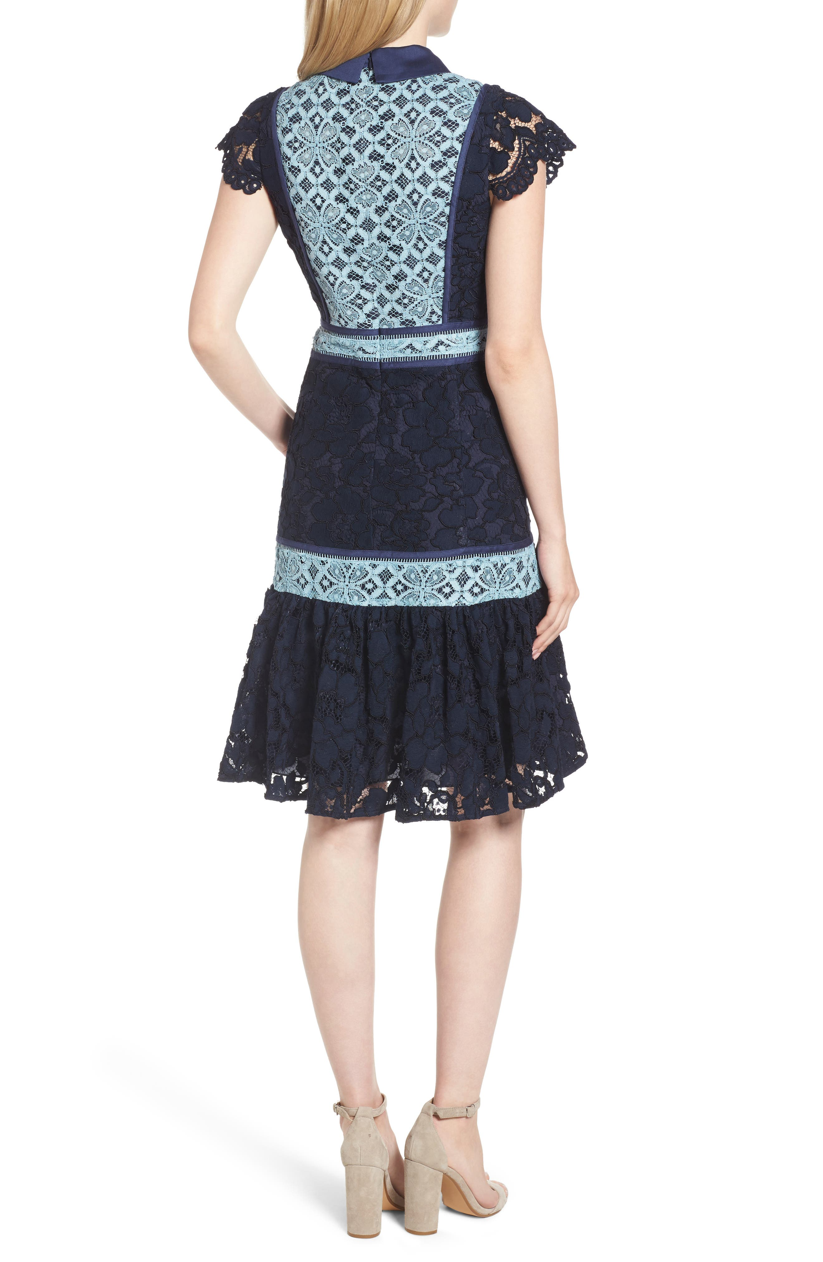 Alternate Image 2  - Draper James Collared Lace Collection A-Line Dress