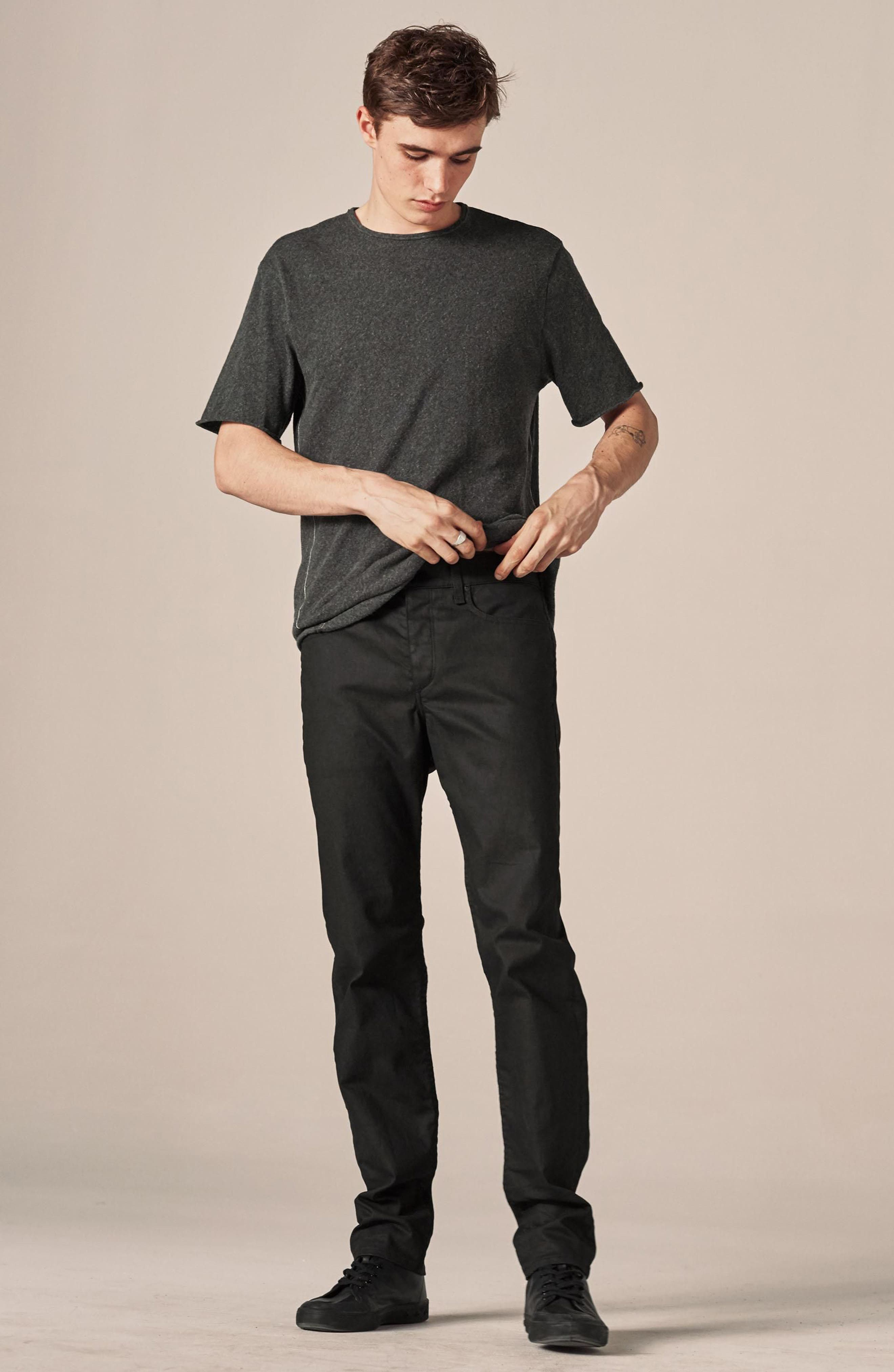 Alternate Image 2  - rag & bone Fit 2 Slim Fit Jeans (Coated Black)