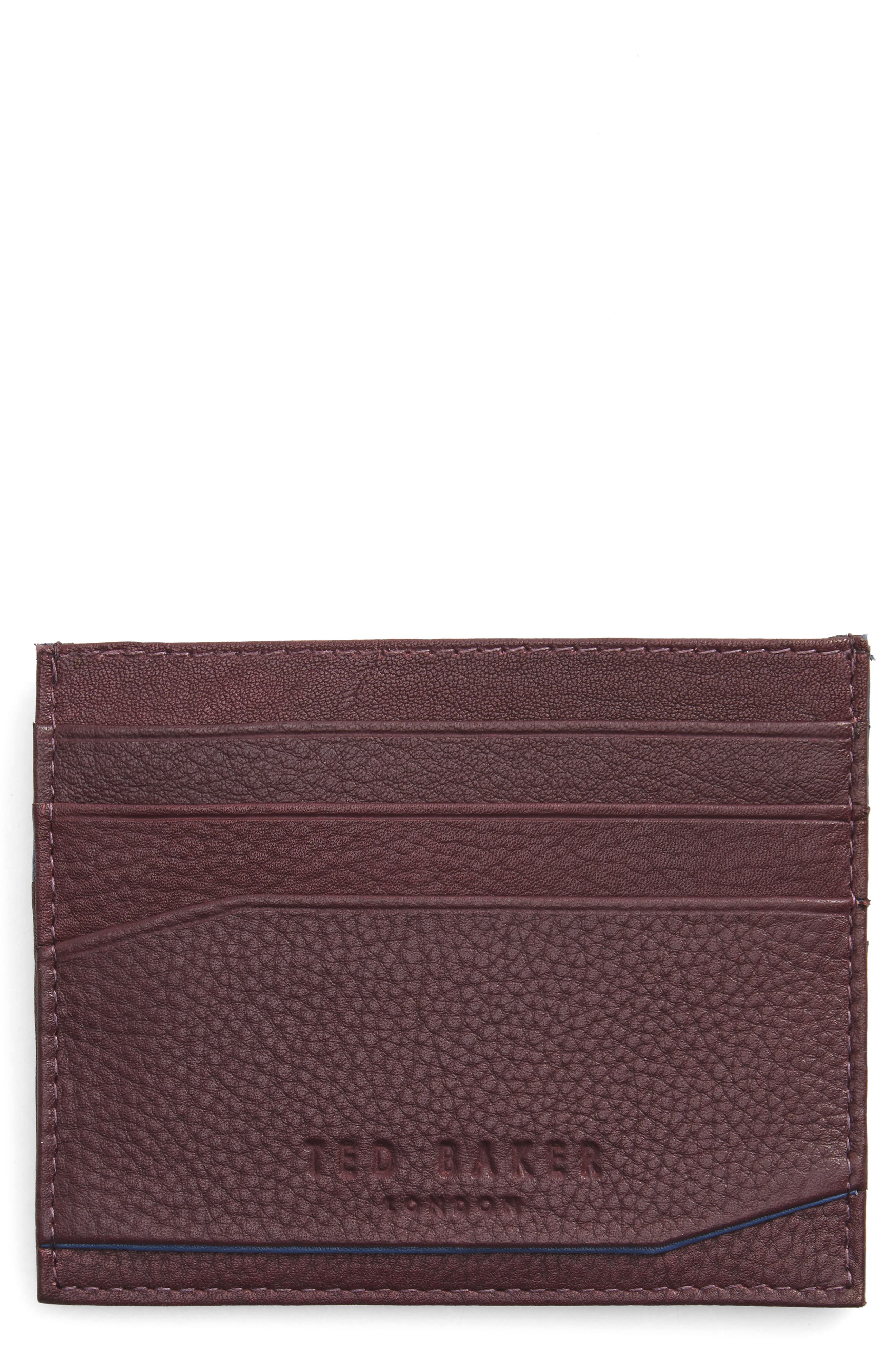 Ted Baker London Binxx Leather Card Case