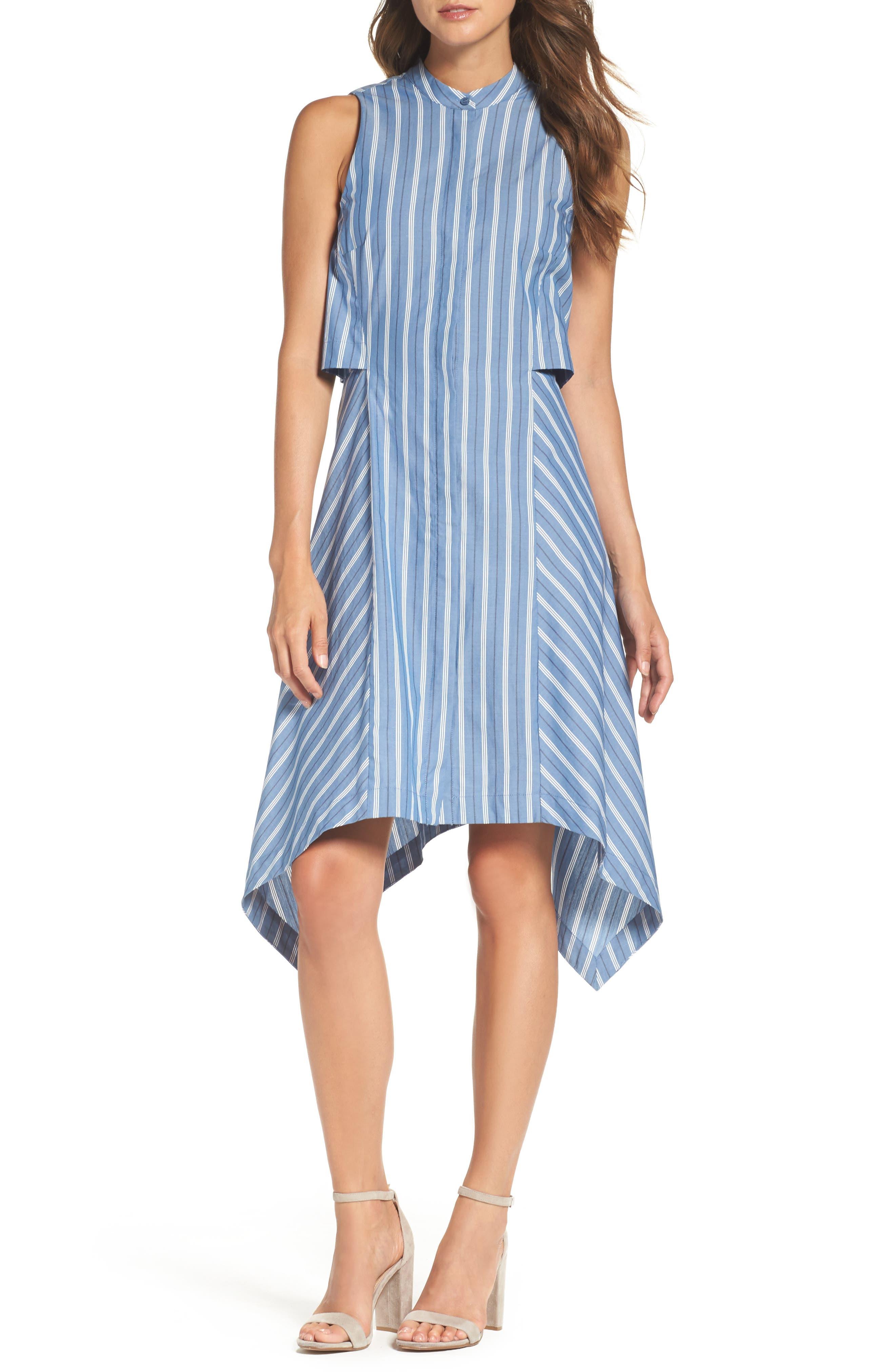 City Sleeveless Dress,                         Main,                         color, Dark Blue Ash