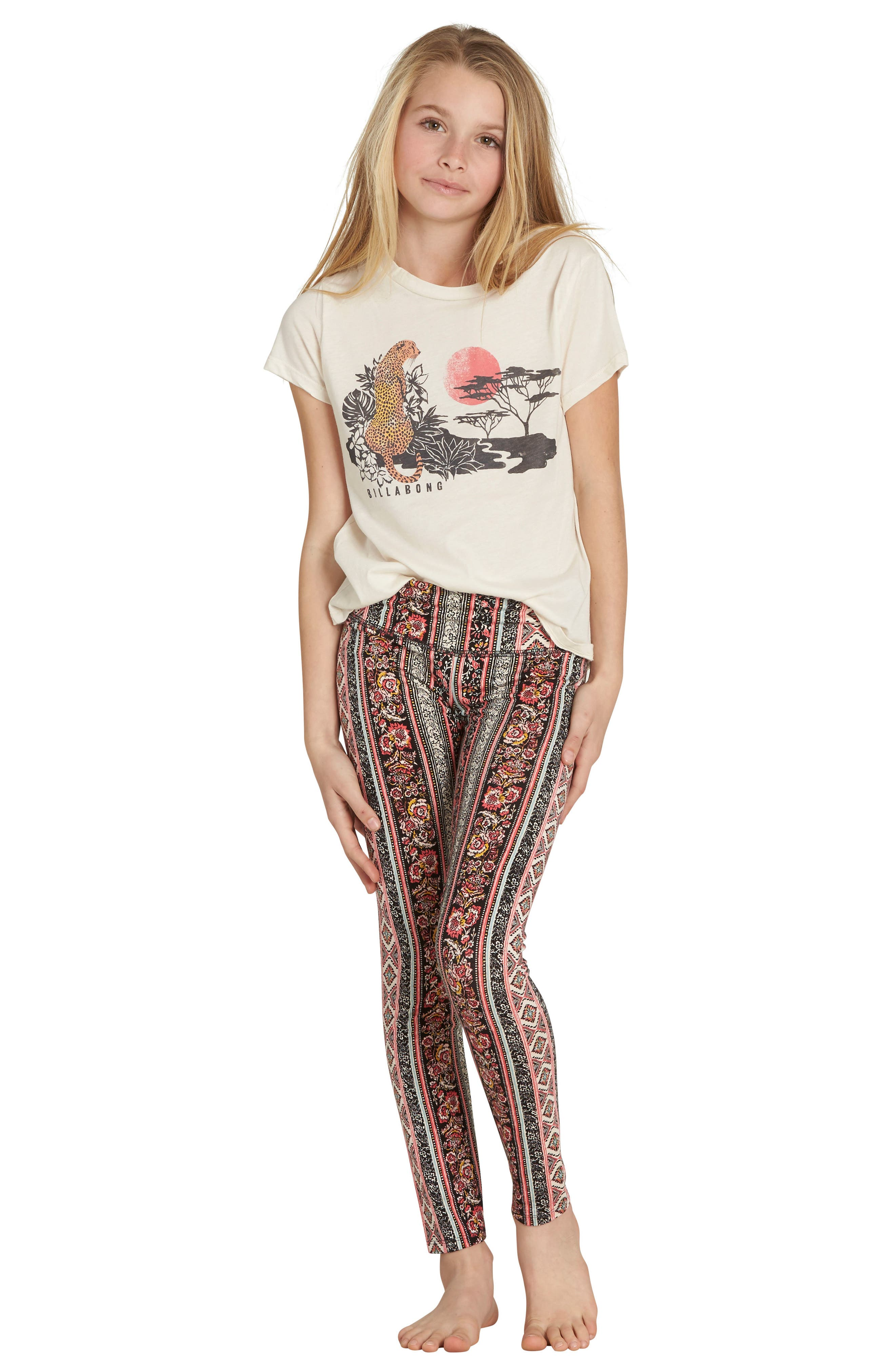 Alternate Image 1 Selected - Billabong Face the Gloom Graphic Tee (Little Girls & Big Girls)