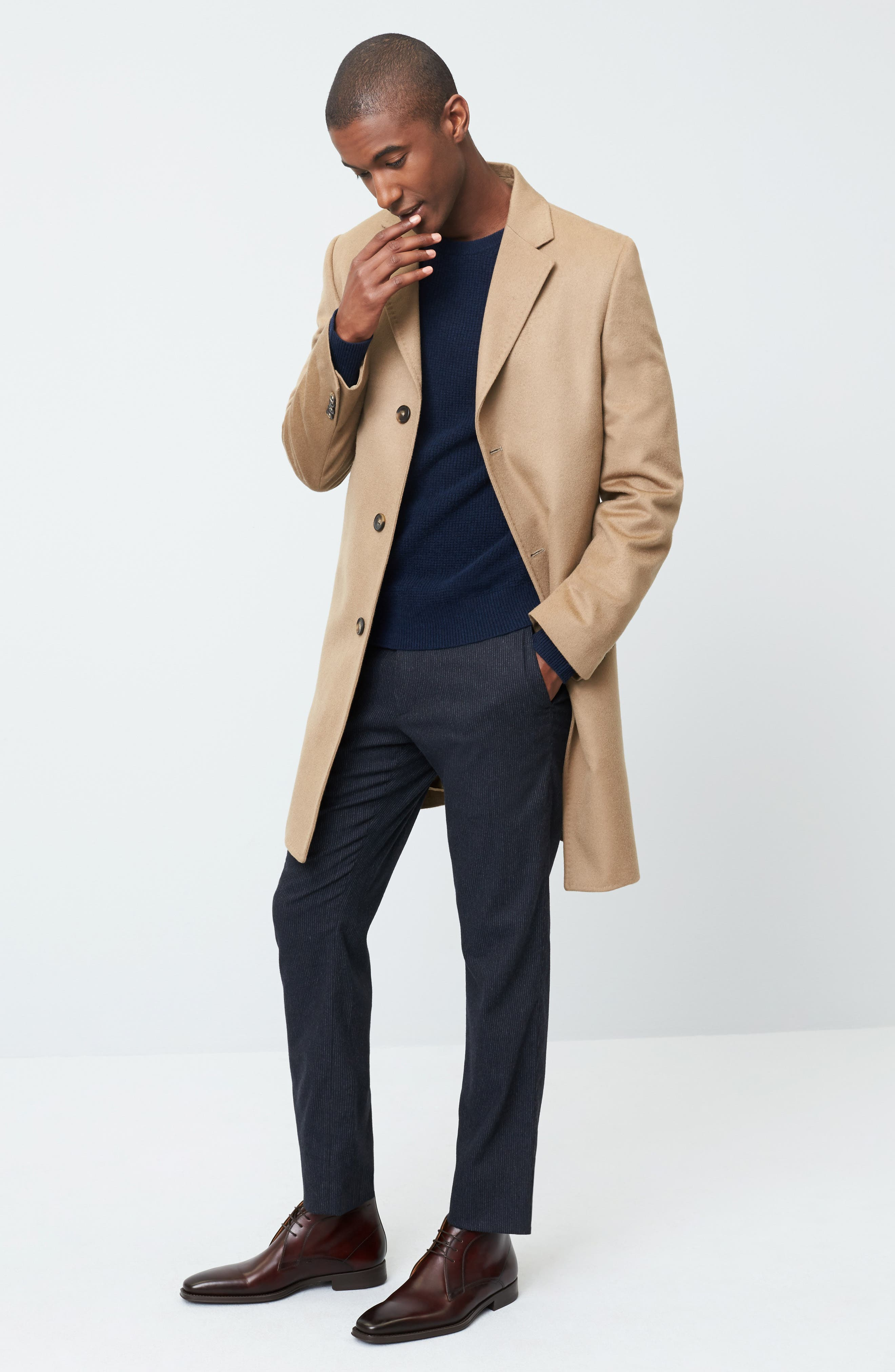 Alternate Image 7  - Monte Rosso Carter Classic Fit Cashmere Overcoat
