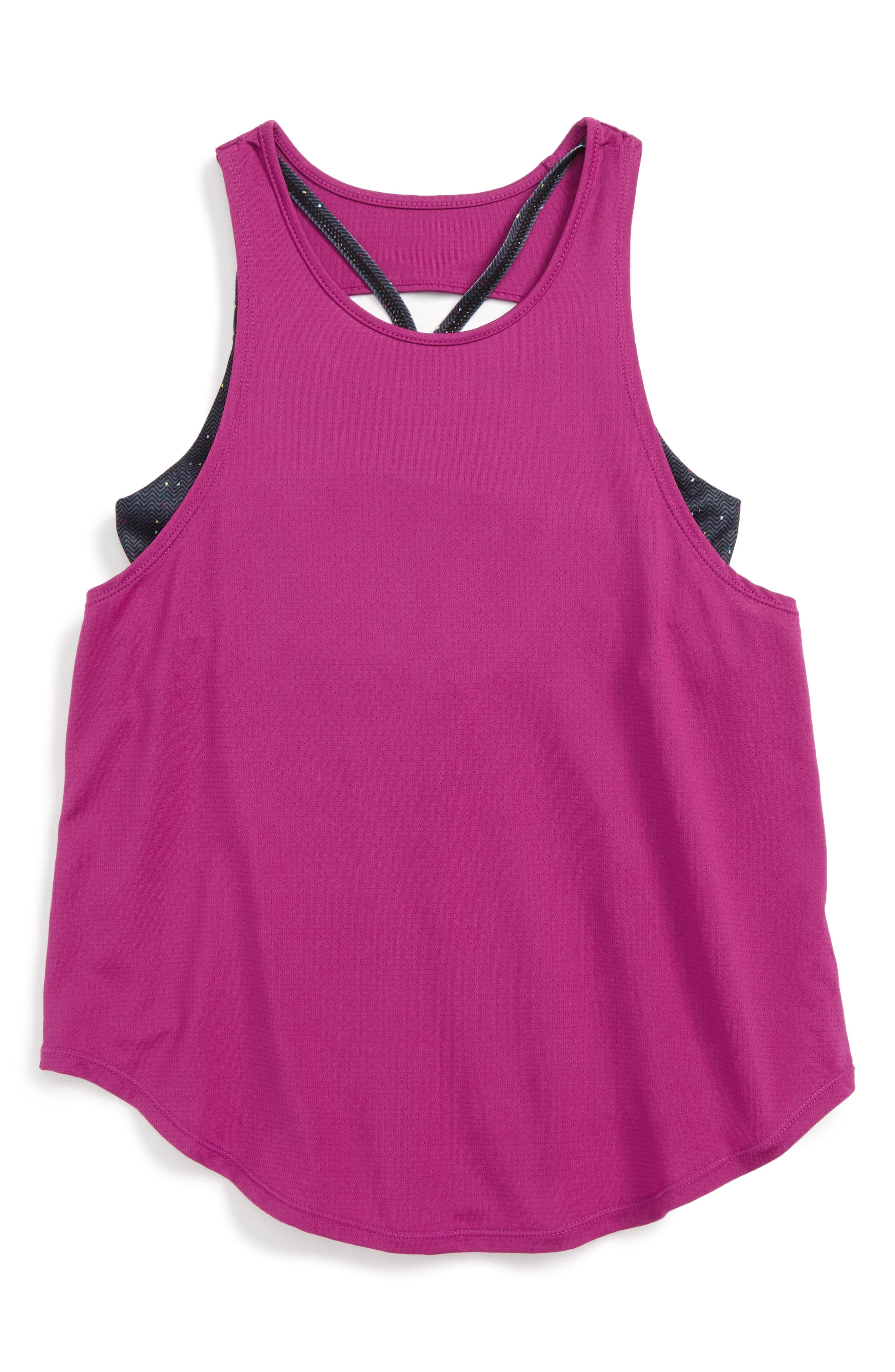 Double Layer Tank,                             Main thumbnail 1, color,                             Pink Wild Aster